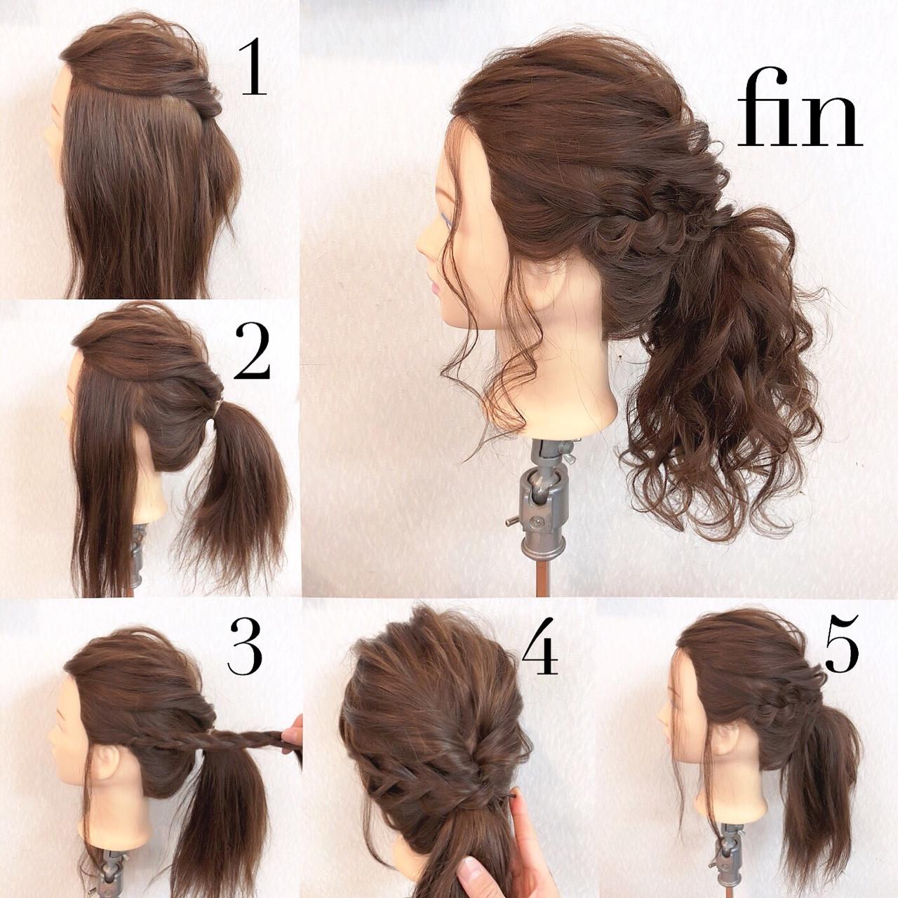 ロング ショート ヘアアレンジ 結婚式 ヘアスタイルや髪型の写真・画像 | ヤマナカサトル / DIOR of Hair