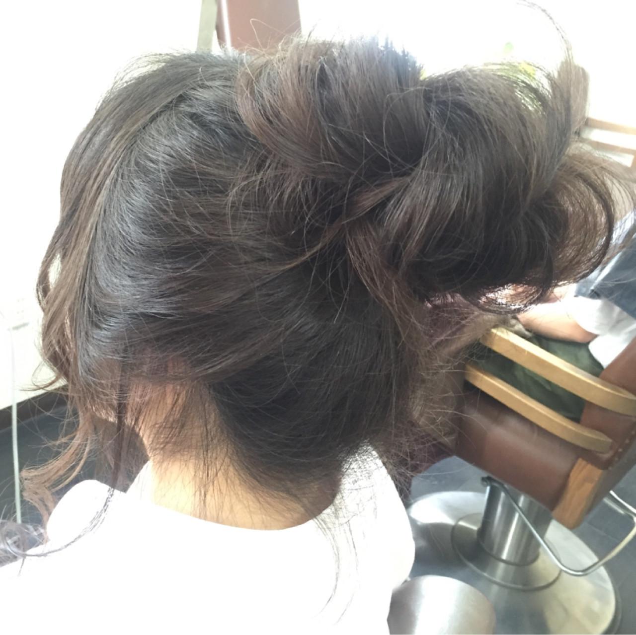 ロング ヘアアレンジ ゆるふわ メッシーバン ヘアスタイルや髪型の写真・画像