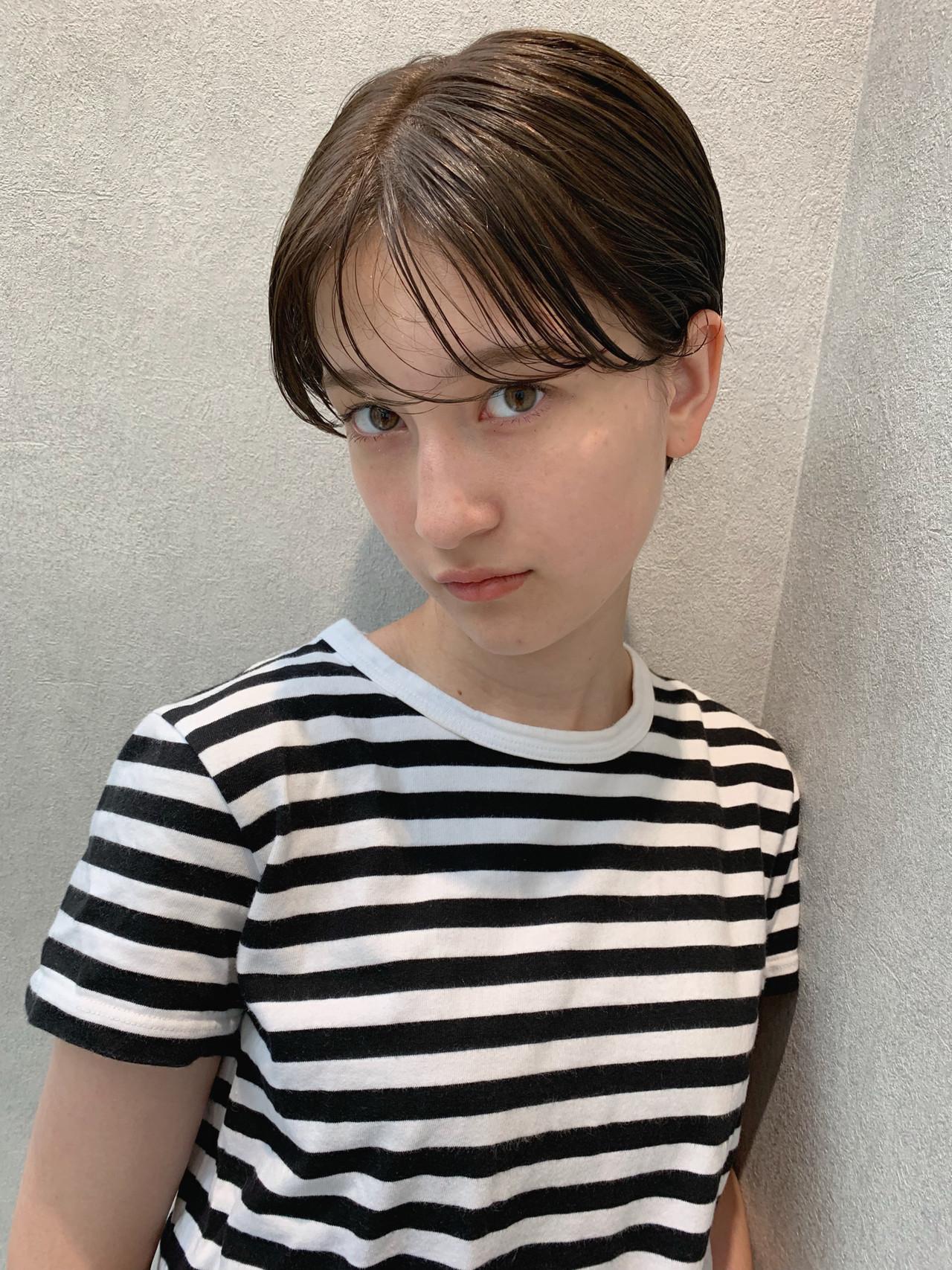 パーマ 大人かわいい 黒髪 簡単ヘアアレンジ ヘアスタイルや髪型の写真・画像