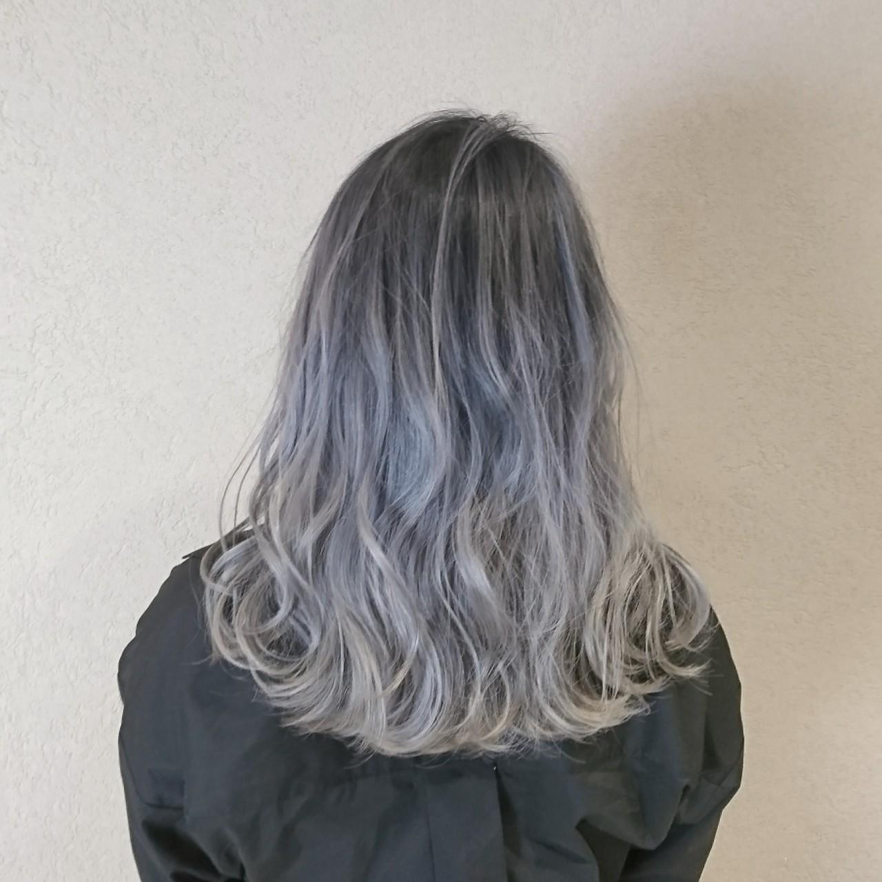 透明感 ストリート セミロング 外国人風カラー ヘアスタイルや髪型の写真・画像