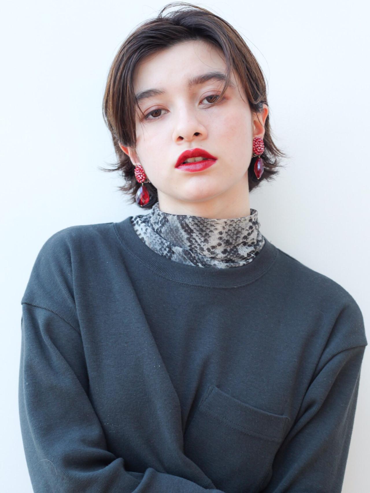 モード ミディアム 大人かわいい 外ハネ ヘアスタイルや髪型の写真・画像 | HIROKI / roijir / roijir
