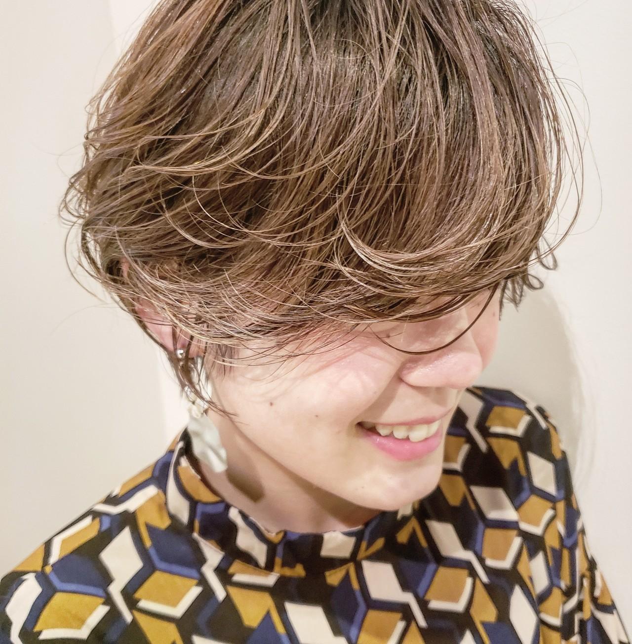 ヘアアレンジ ショートボブ ショート 小顔ショート ヘアスタイルや髪型の写真・画像