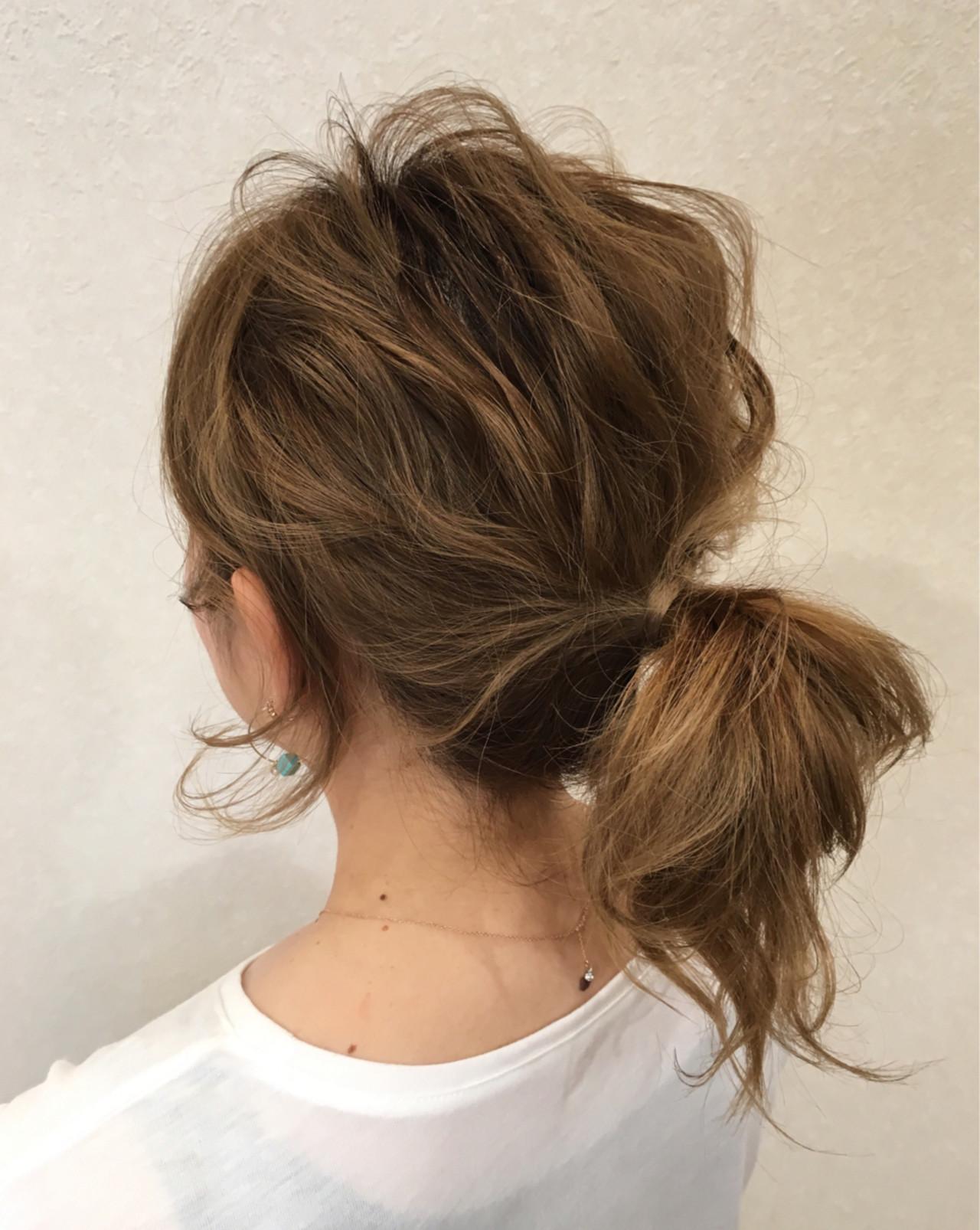 ヘアアレンジ デート 波ウェーブ セミロング ヘアスタイルや髪型の写真・画像