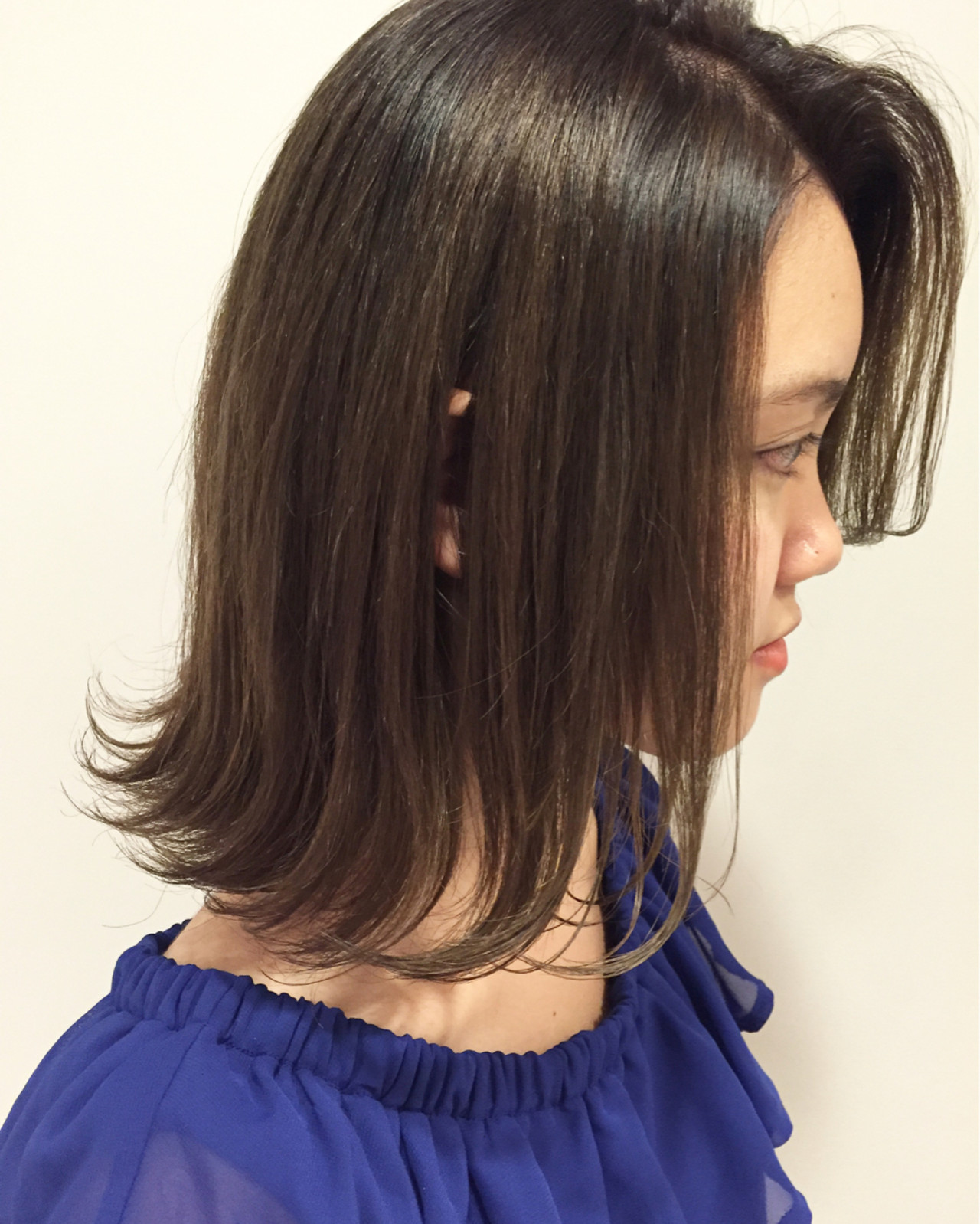 ストリート グラデーションカラー ミディアム くせ毛風 ヘアスタイルや髪型の写真・画像