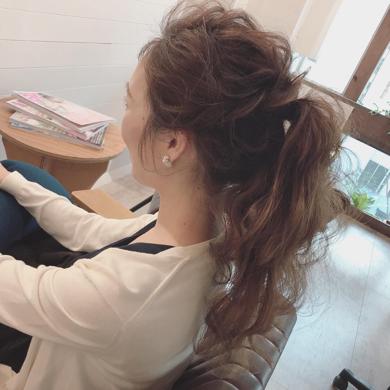 大人かわいい ロング 謝恩会 ヘアアレンジ ヘアスタイルや髪型の写真・画像