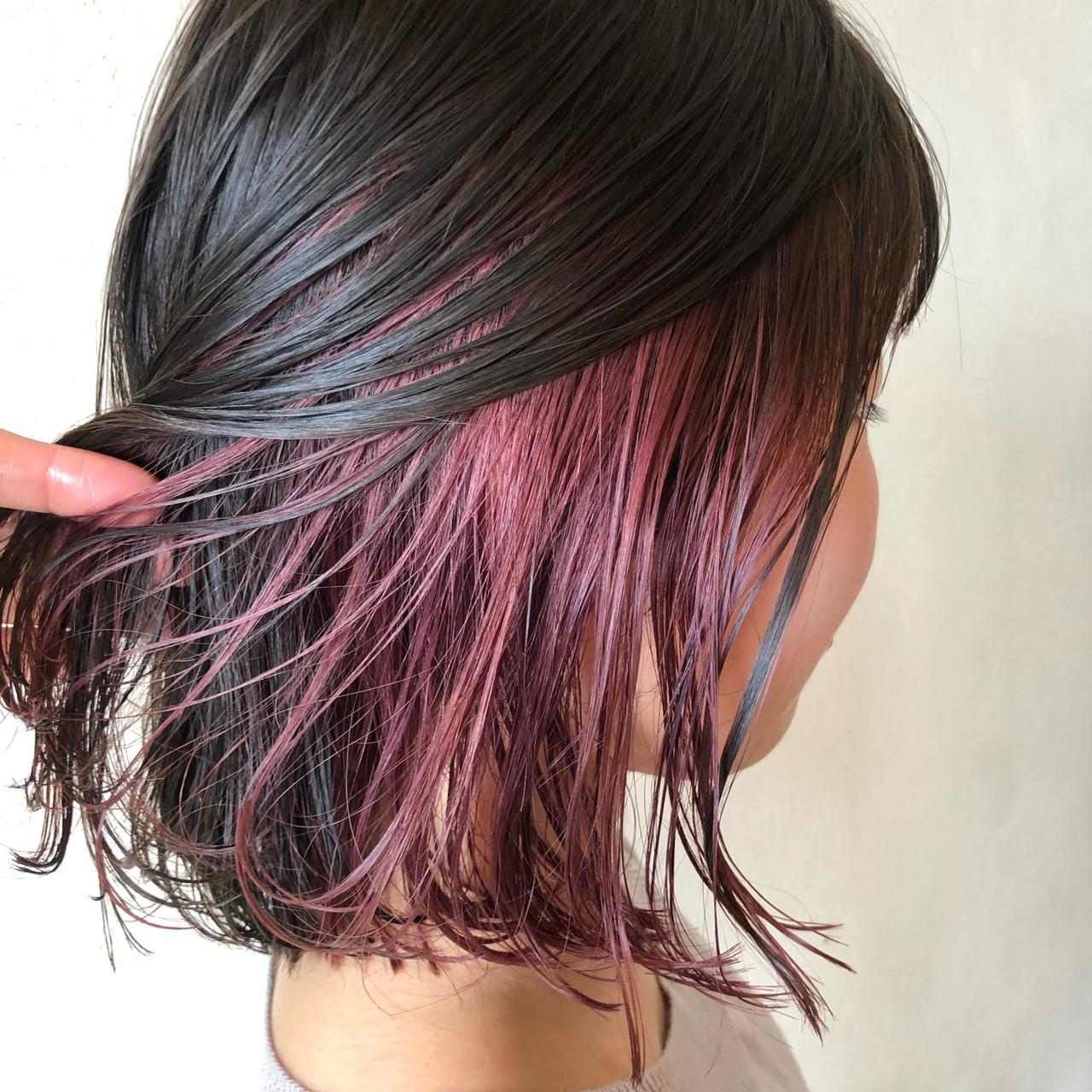 フェミニン ピンク ピンクアッシュ ピンクブラウン ヘアスタイルや髪型の写真・画像