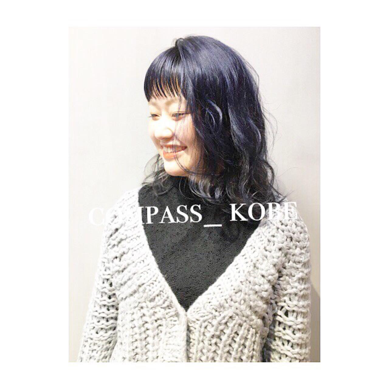 色気 シースルーバング こなれ感 前髪あり ヘアスタイルや髪型の写真・画像 | COM PASS 太一 / COM PASS