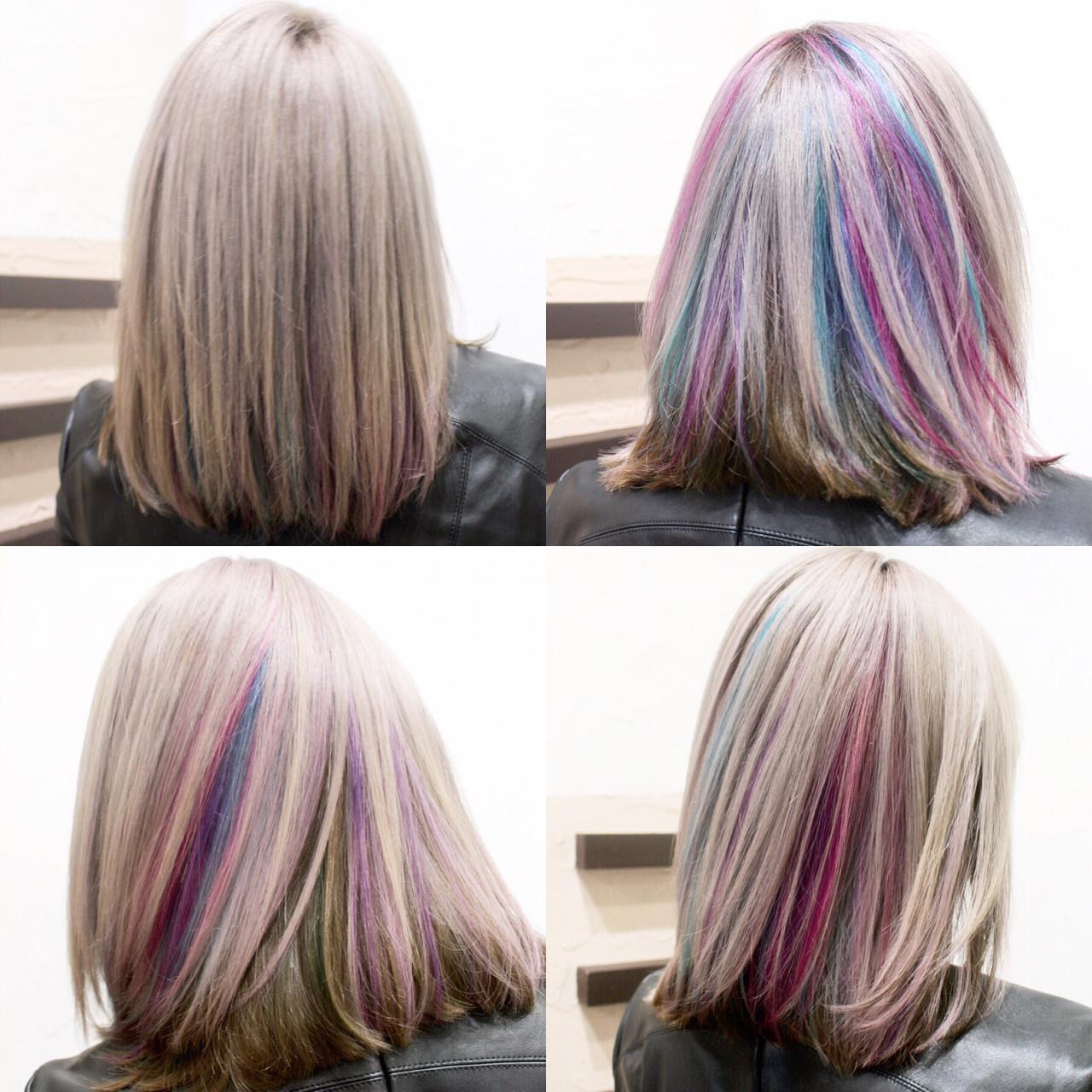 モード ハイトーン 渋谷系 外国人風 ヘアスタイルや髪型の写真・画像