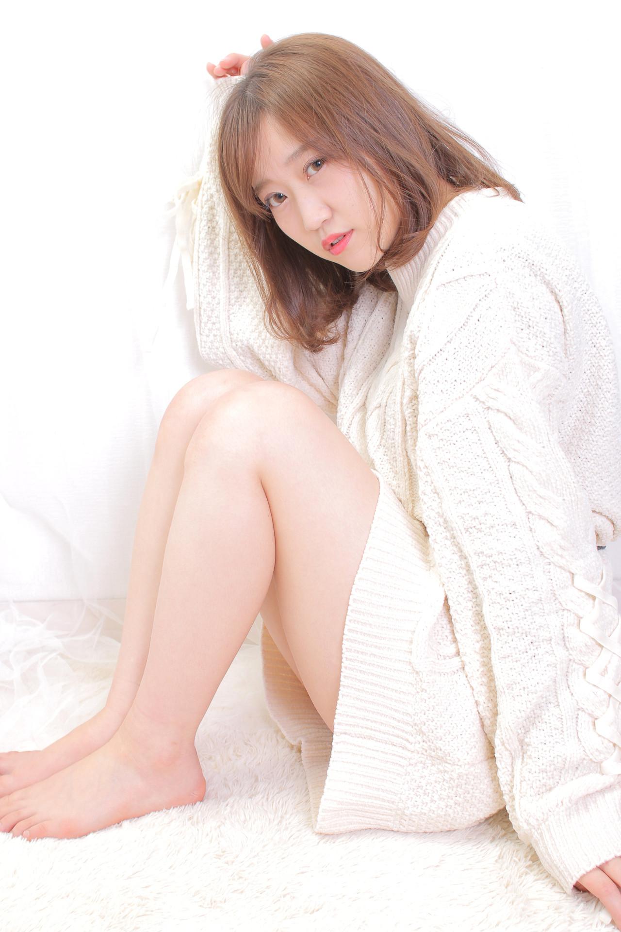 アンニュイほつれヘア ゆるナチュラル ミニボブ 切りっぱなしボブ ヘアスタイルや髪型の写真・画像 | Masayuki Seto / PROS:旭商店街店