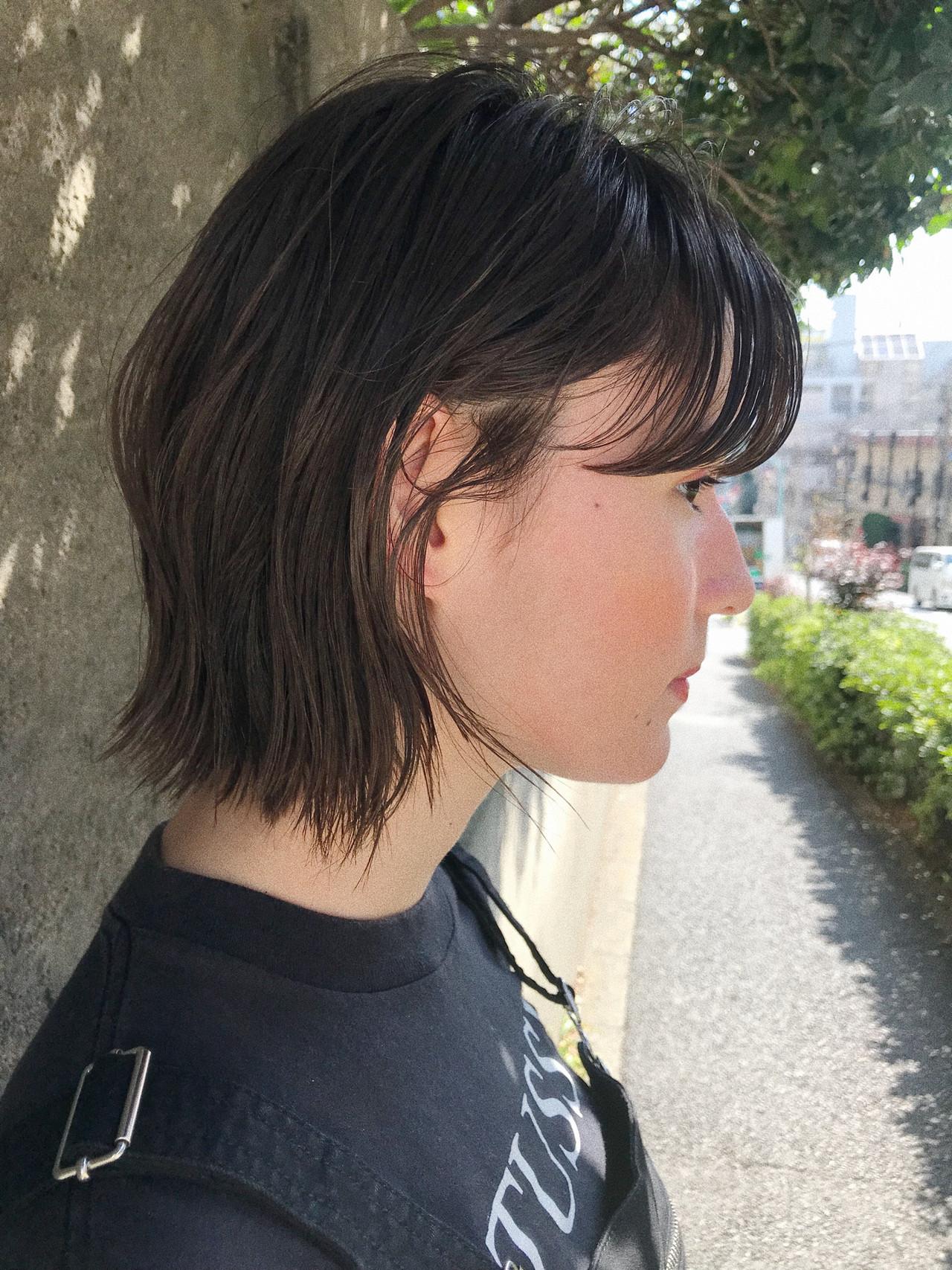黒髪 ナチュラル 大人かわいい 抜け感 ヘアスタイルや髪型の写真・画像