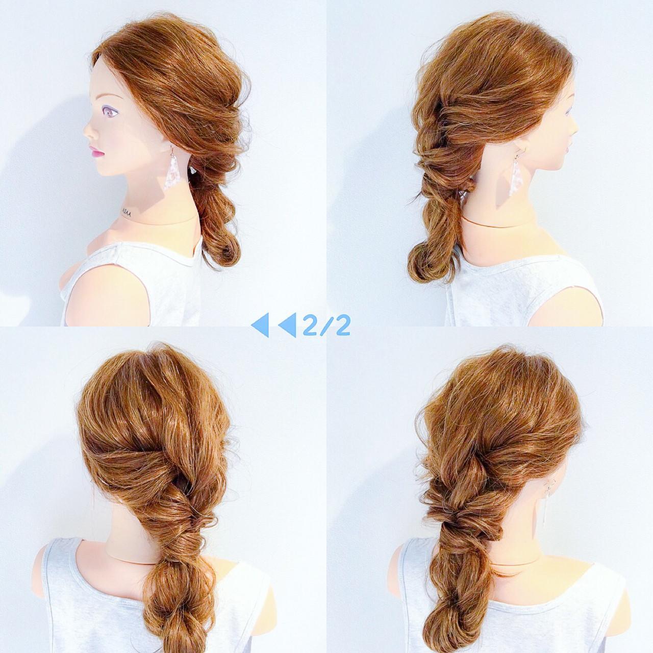 簡単ヘアアレンジ ヘアアレンジ 女子会 ロング ヘアスタイルや髪型の写真・画像