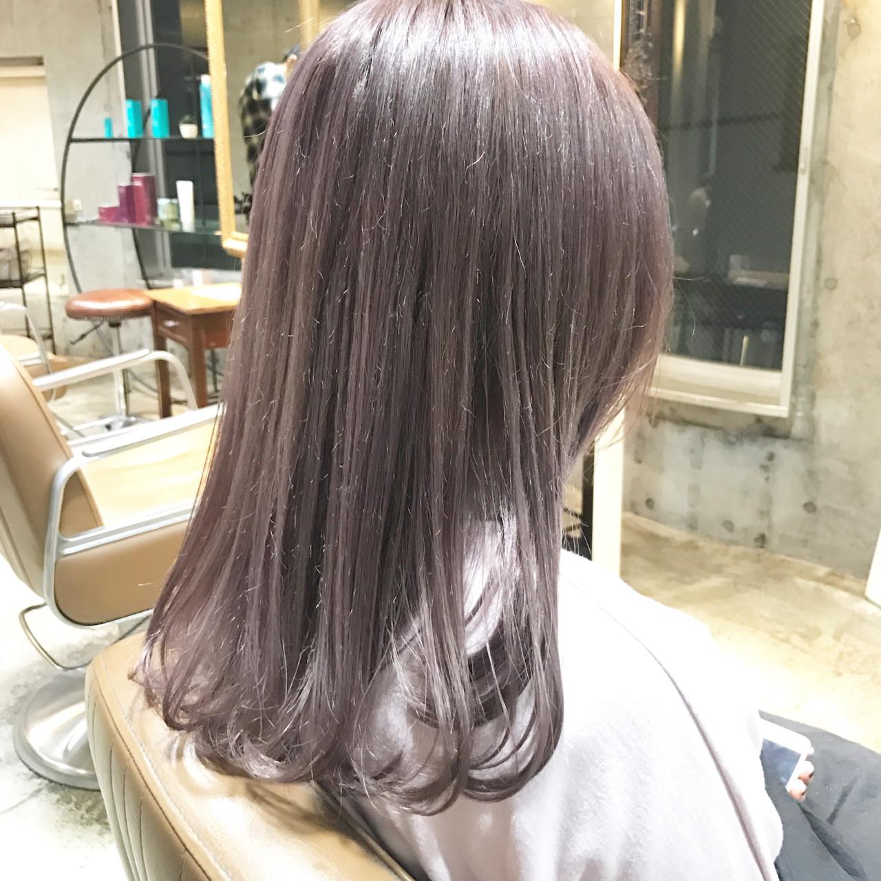 ラベンダー ロング ガーリー 外国人風 ヘアスタイルや髪型の写真・画像 | Go Takahira / salon de Milk原宿