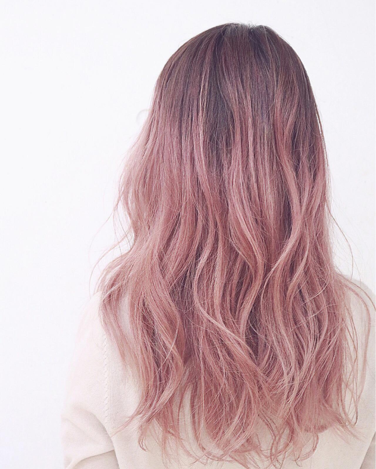ストリート ピンク 外国人風 ミディアム ヘアスタイルや髪型の写真・画像 | RUMINA //高田ゆみこ / Rumina