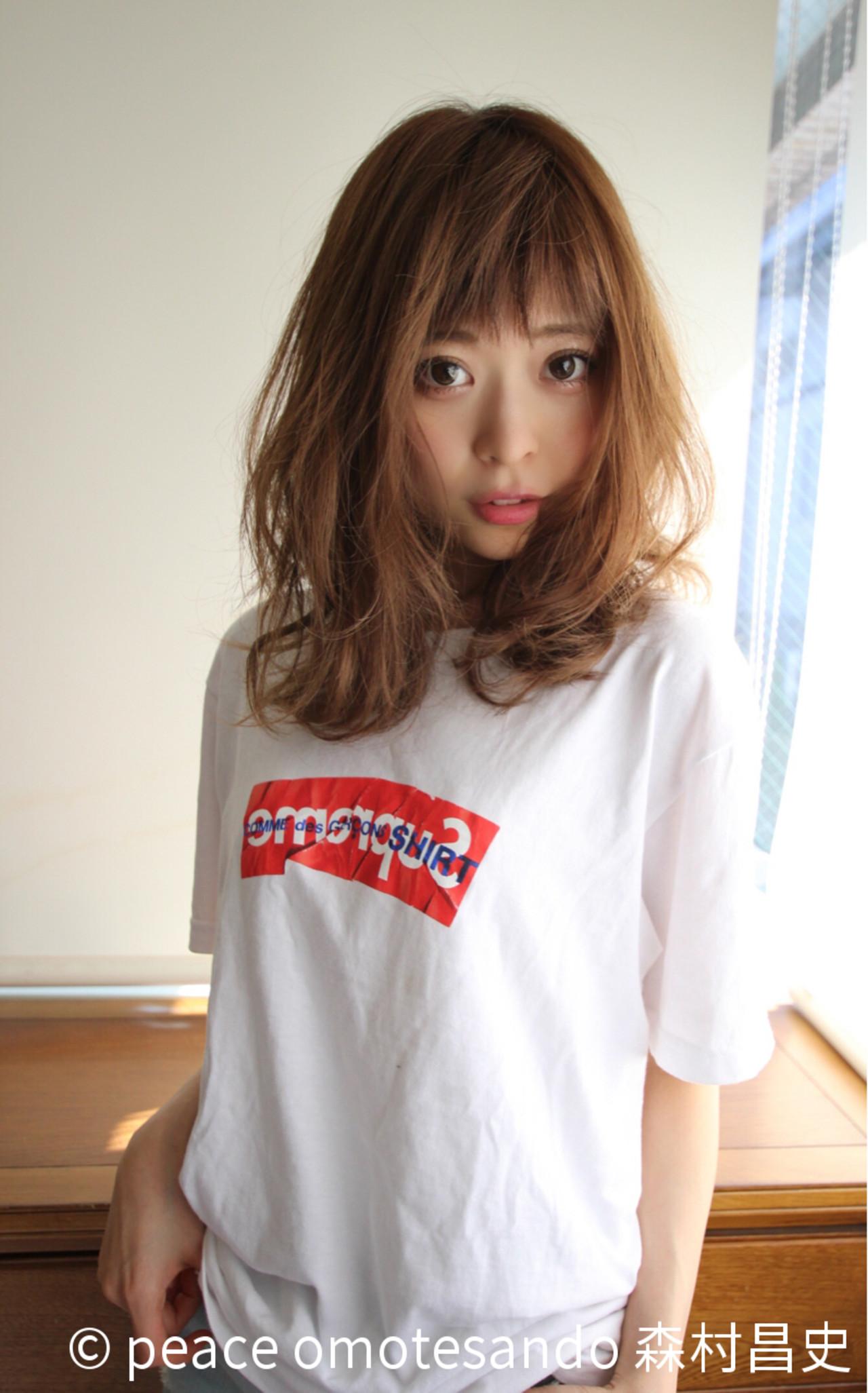 モテ髪 美シルエット ミディアム ひし形 ヘアスタイルや髪型の写真・画像