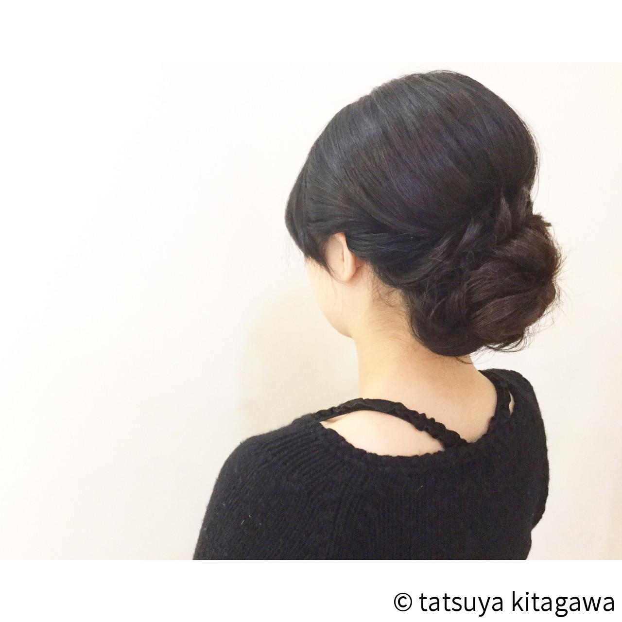 和装 セミロング 大人かわいい 花嫁 ヘアスタイルや髪型の写真・画像