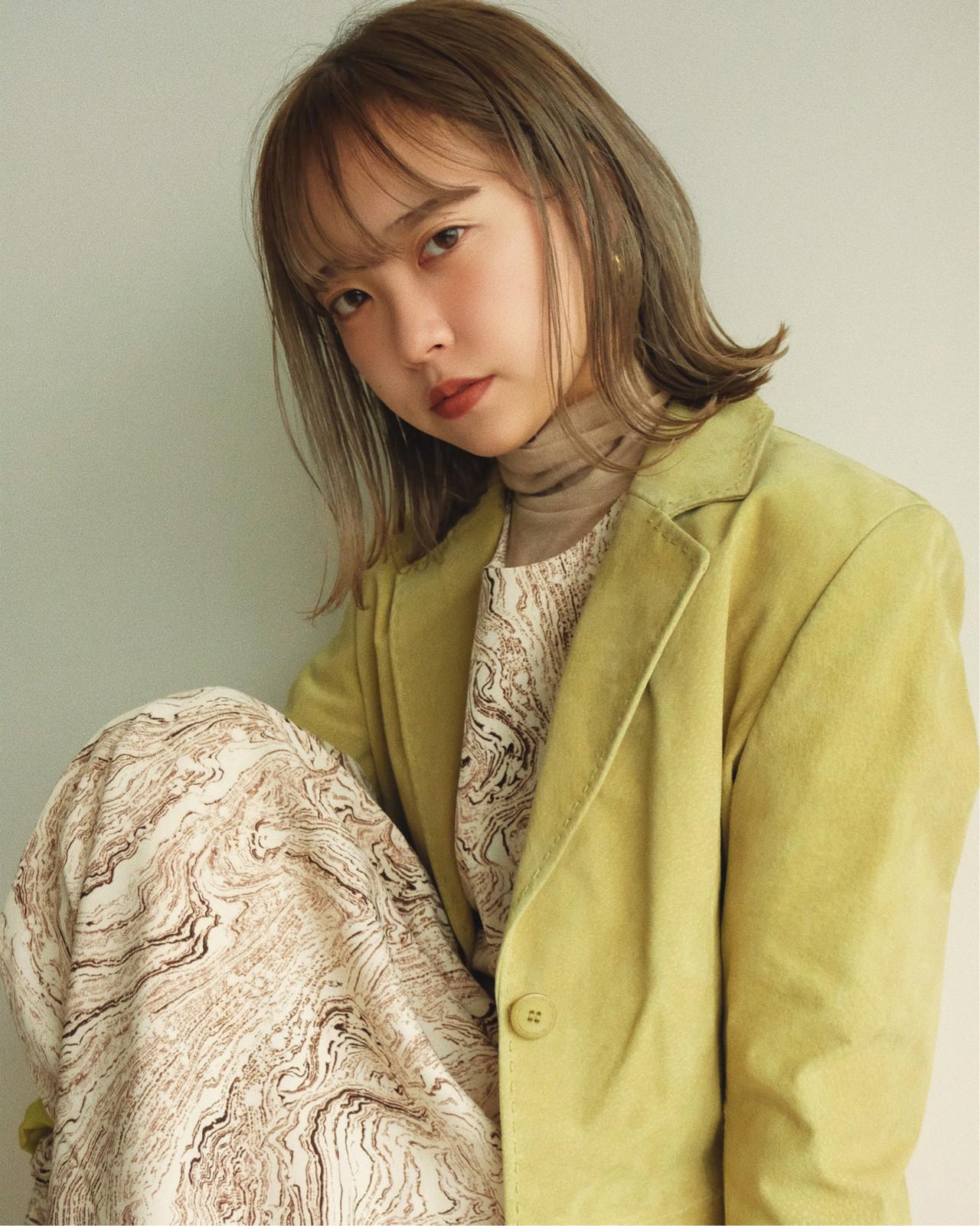 デート ナチュラル ボブ 大人かわいい ヘアスタイルや髪型の写真・画像 | YUJI / LIICHI / LIICHI (リイチ)