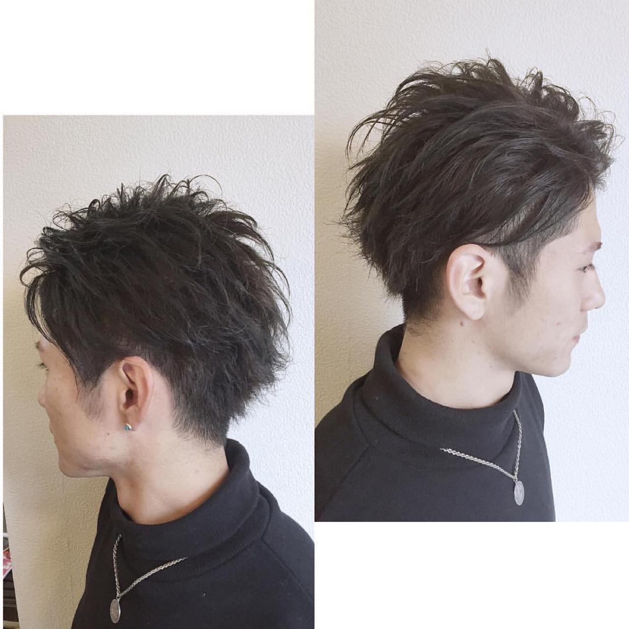 刈り上げ メンズ ボーイッシュ モテ髪 ヘアスタイルや髪型の写真・画像