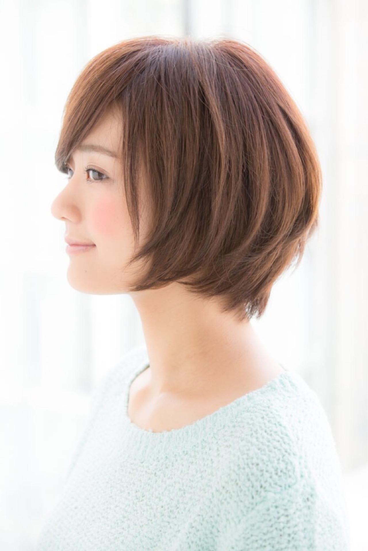 外ハネ パーマ オフィス デート ヘアスタイルや髪型の写真・画像 | 松下哲史 / Ramie omotesando