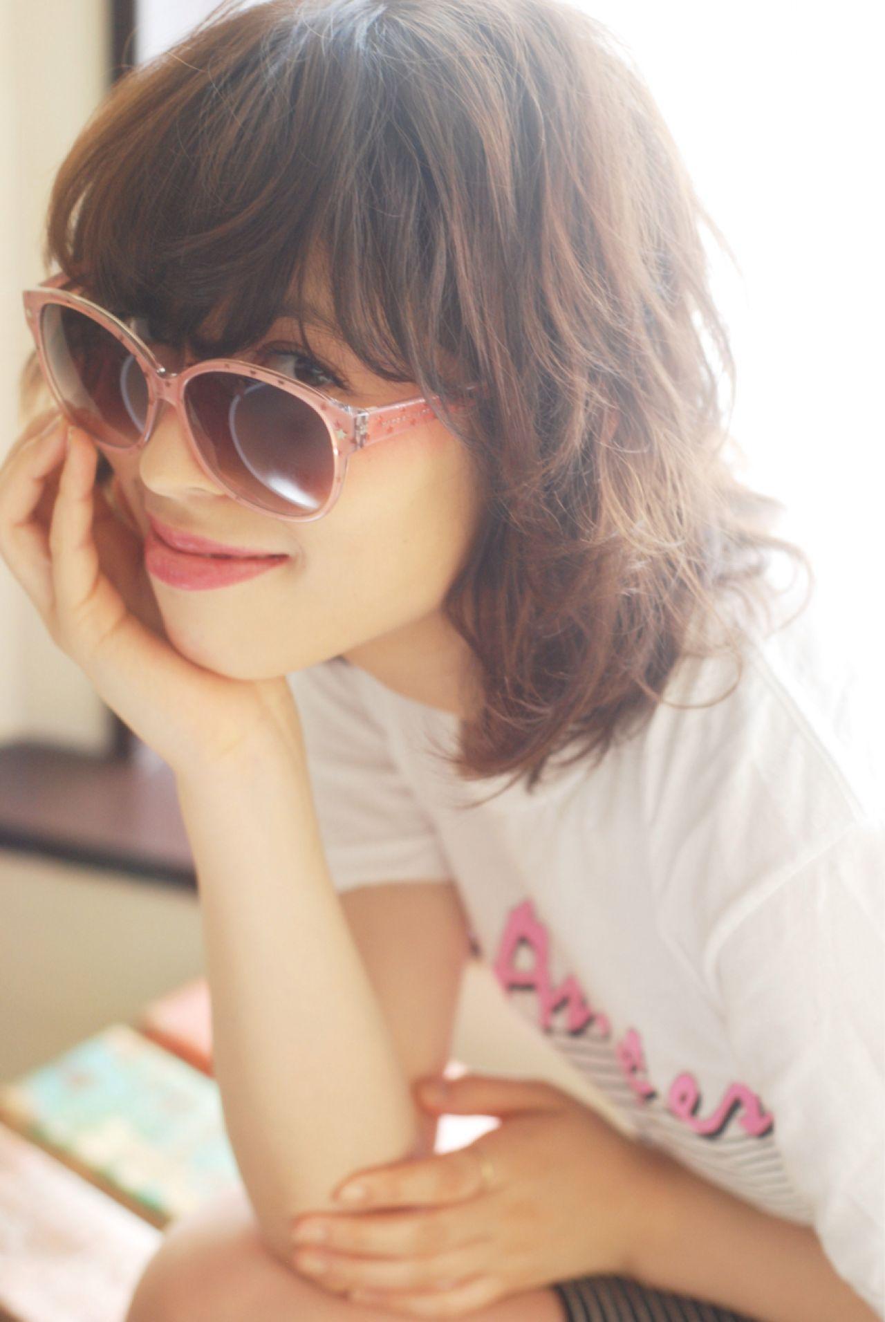 ナチュラル ゆるふわ 外国人風 ボブ ヘアスタイルや髪型の写真・画像 | 横川 諒 / 横川