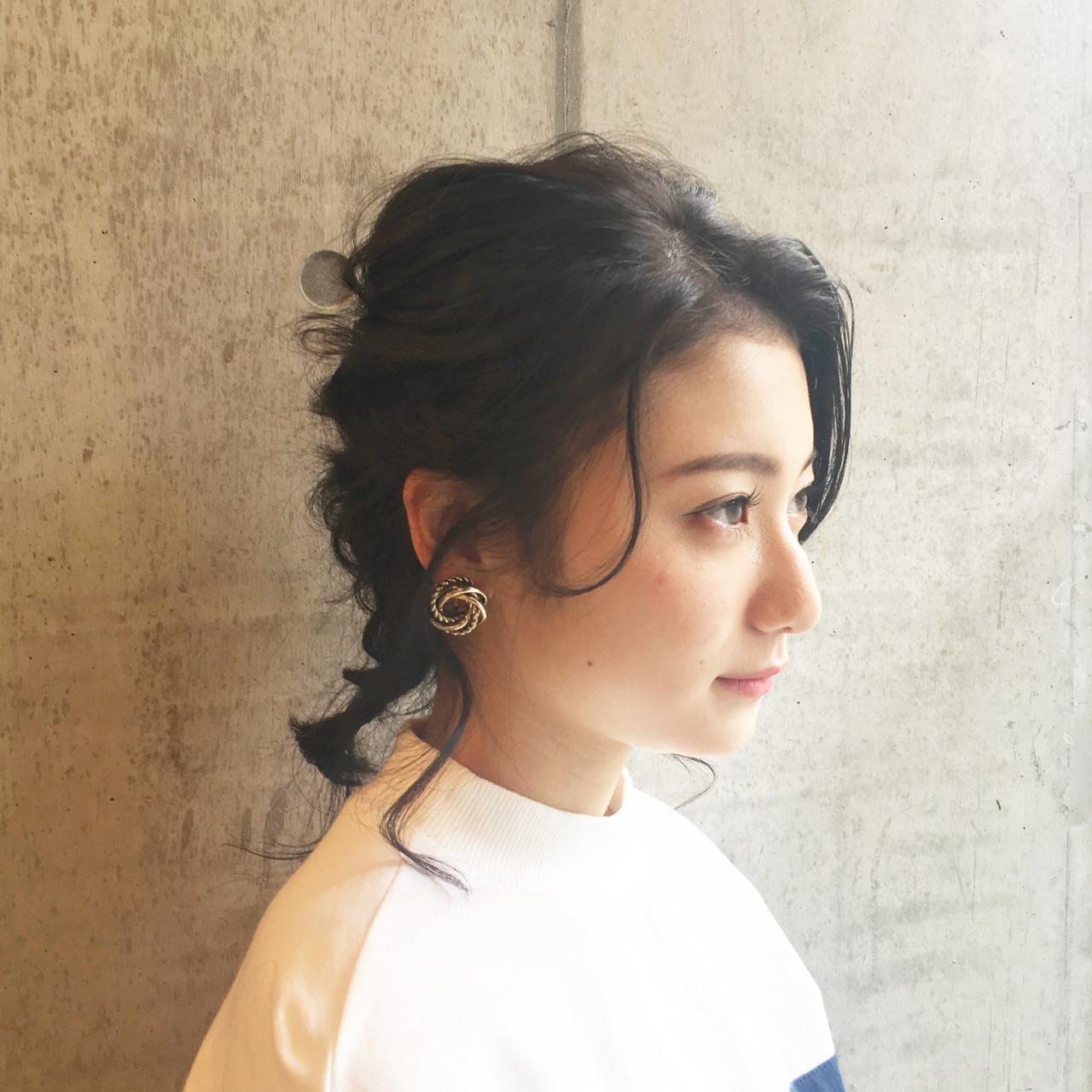 結婚式 デート 編み込み フェミニン ヘアスタイルや髪型の写真・画像 | 中尾 寿揮 / Anna Lanna