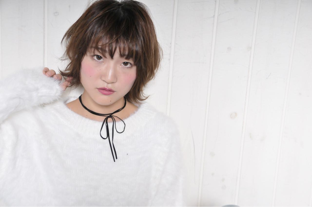 ミルクティー ゆるふわ 外ハネ キュート ヘアスタイルや髪型の写真・画像   岡田 有希 / Neolive caff