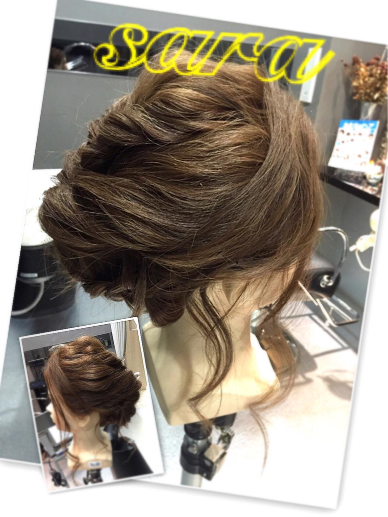 アップスタイル ロング 二次会 結婚式|hair therapy Sara