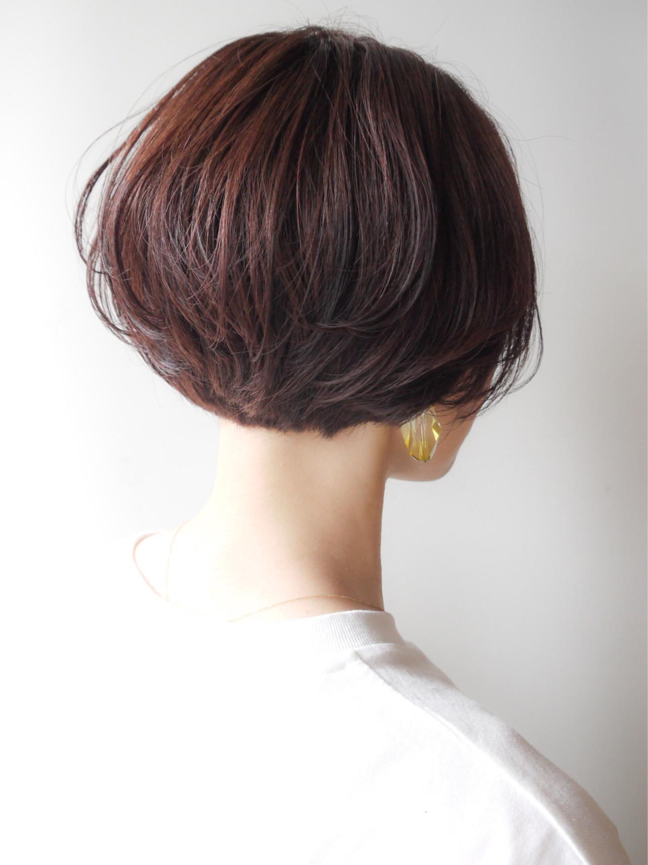 ショートボブ 愛され コンサバ オフィス ヘアスタイルや髪型の写真・画像 | HIROKI / roijir / roijir