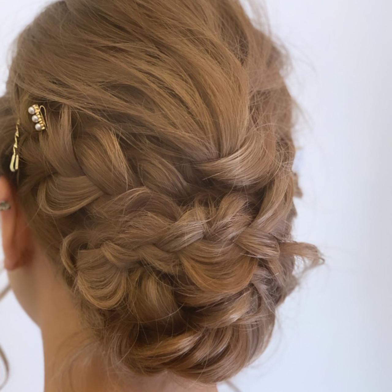 外国人風カラー 簡単ヘアアレンジ ヘアアレンジ ガーリー ヘアスタイルや髪型の写真・画像