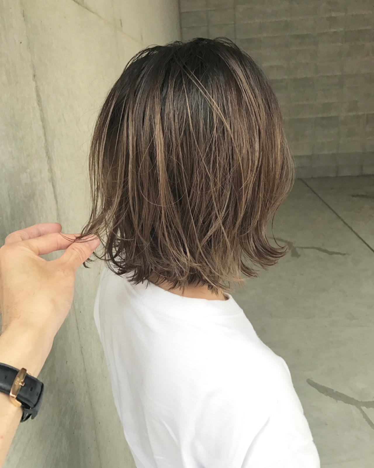 ヘアアレンジ アンニュイ ボブ ウェーブ ヘアスタイルや髪型の写真・画像   前田賢太 HOULe 表参道 / HOULe