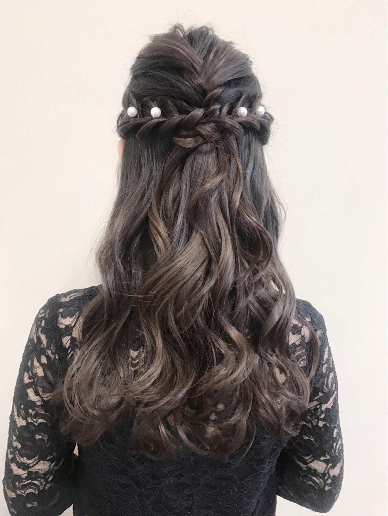 ヘアアレンジ ハーフアップ ロング 結婚式 ヘアスタイルや髪型の写真・画像 | 沢田 瞳 / owlhair