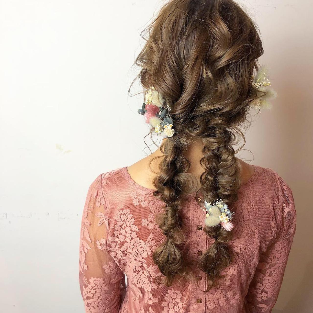 ヘアアレンジ ゆるふわ フェミニン 成人式 ヘアスタイルや髪型の写真・画像 | 山口 卓哉/earth北浦和店 / Hair&Make EARTH北浦和店