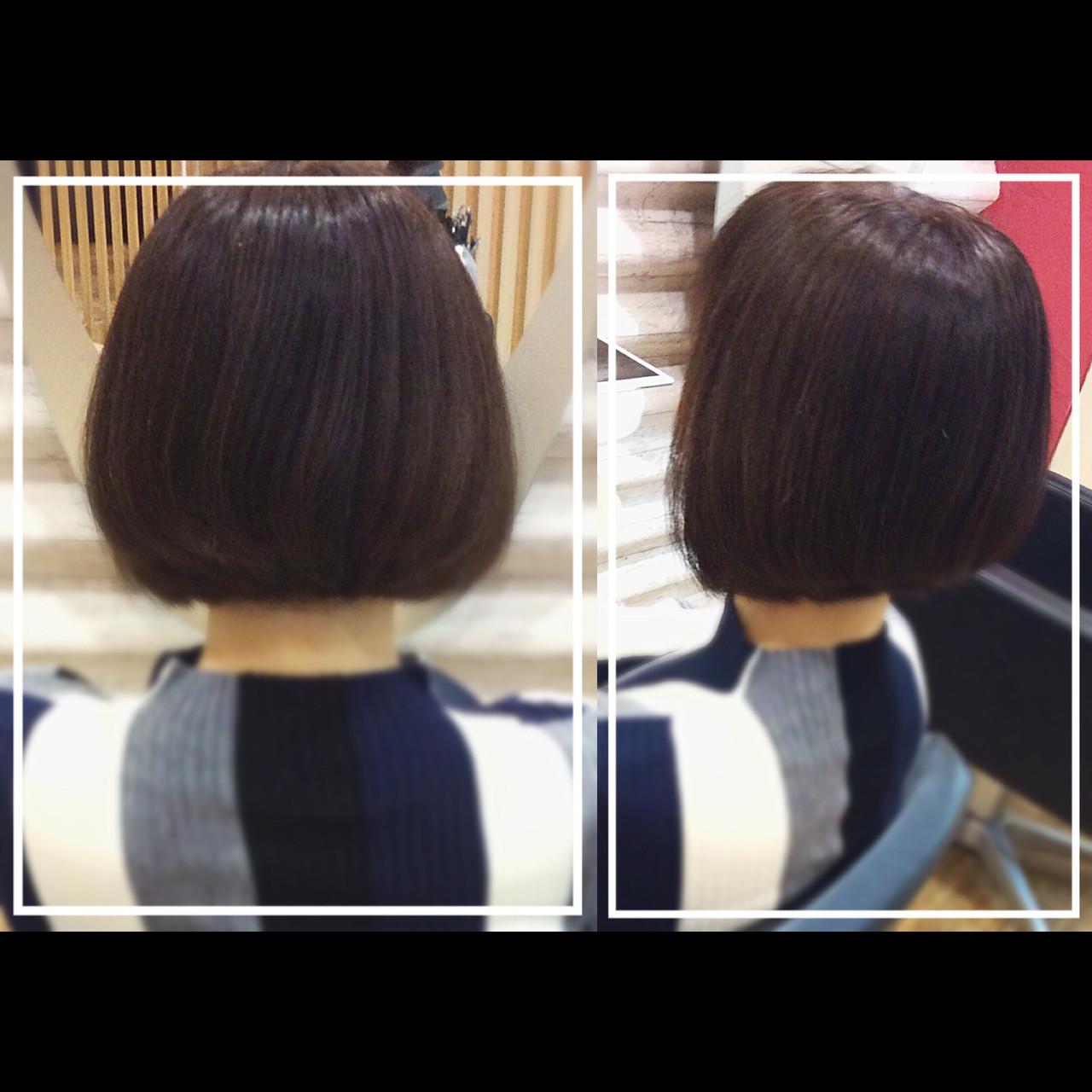 時短 ナチュラル 抜け感 小顔 ヘアスタイルや髪型の写真・画像 | KON / &g