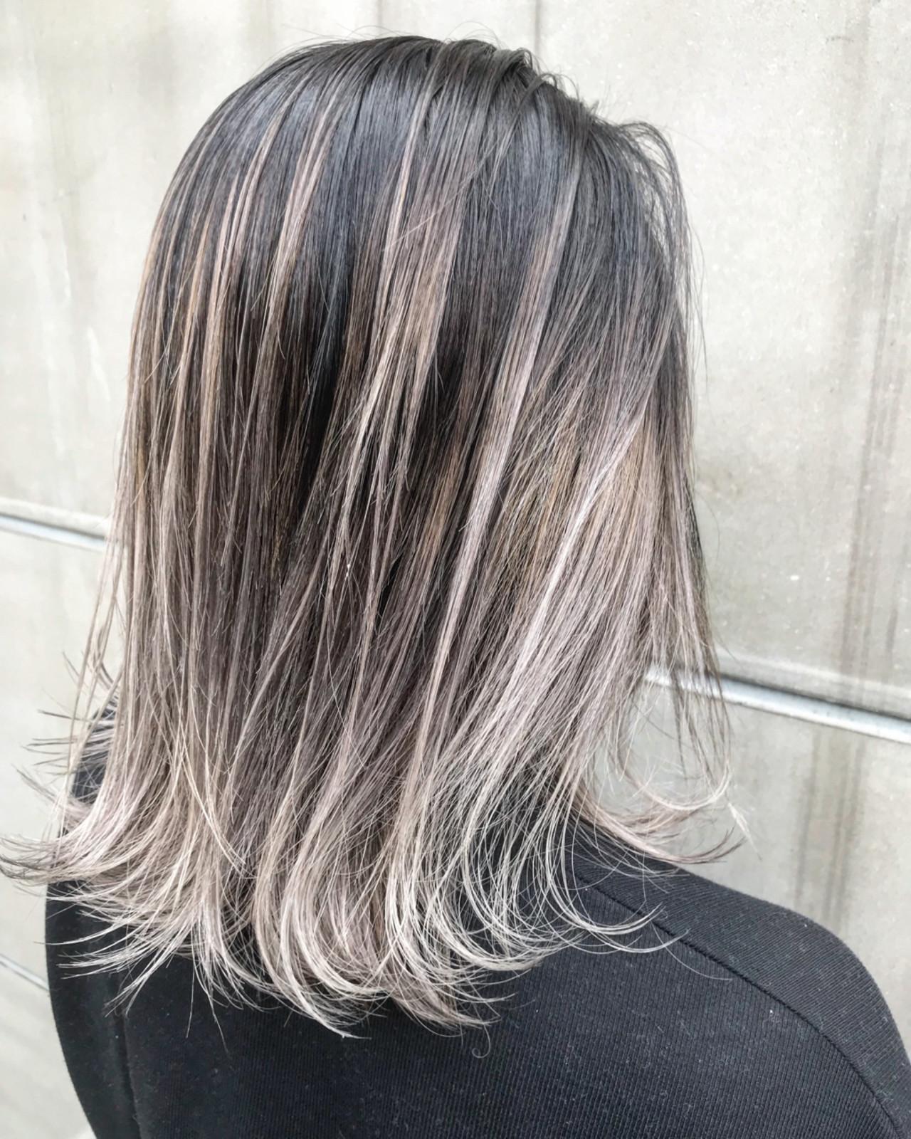 ミディアム ヘアアレンジ 簡単ヘアアレンジ ストリート ヘアスタイルや髪型の写真・画像
