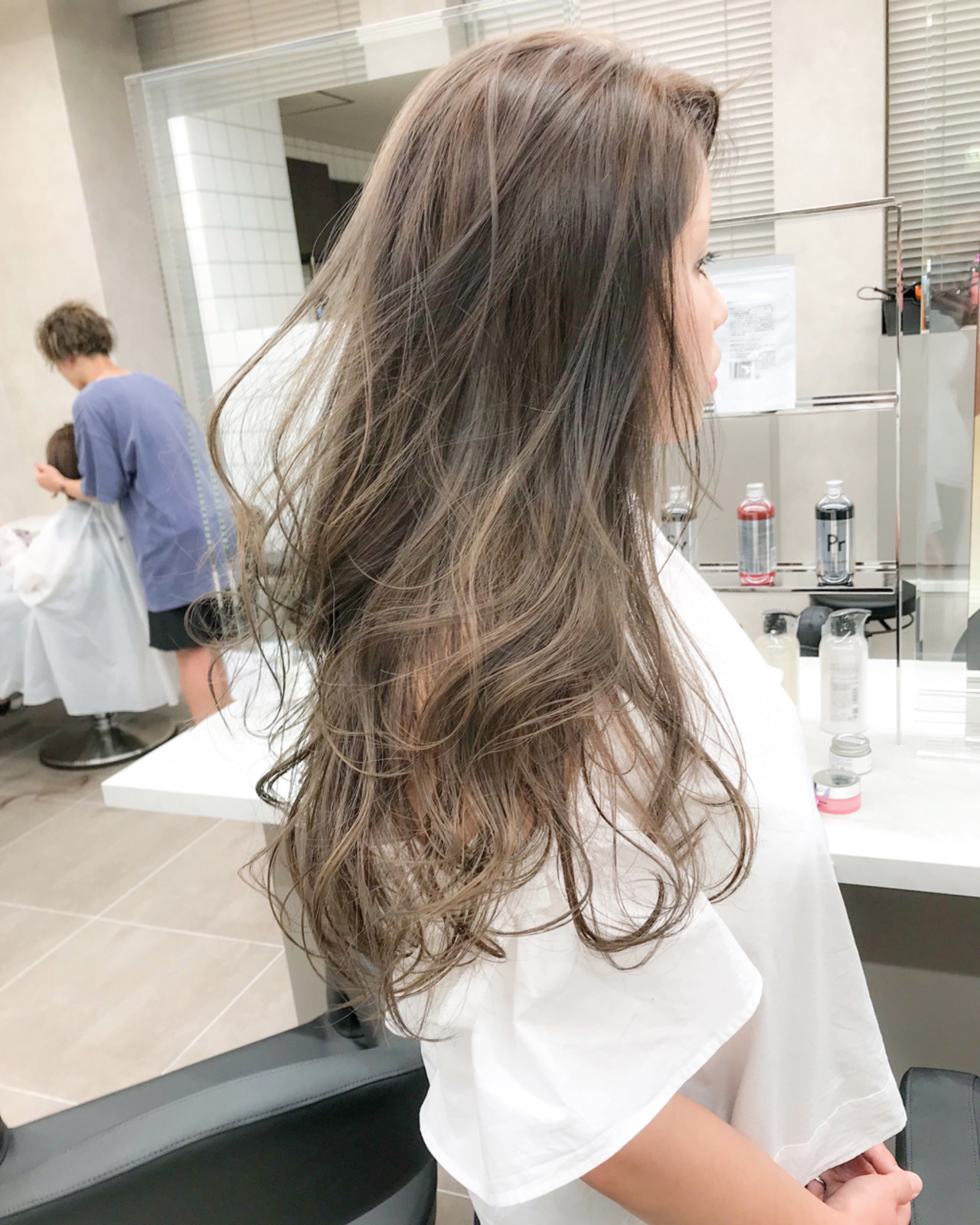 エレガント オフィス セミロング 上品 ヘアスタイルや髪型の写真・画像