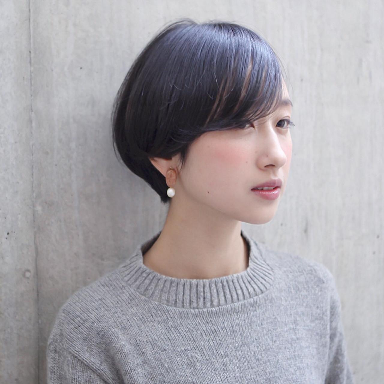 透明感 ショートボブ ショート ナチュラル ヘアスタイルや髪型の写真・画像 | タカハシ アヤミ / trail by ROVER