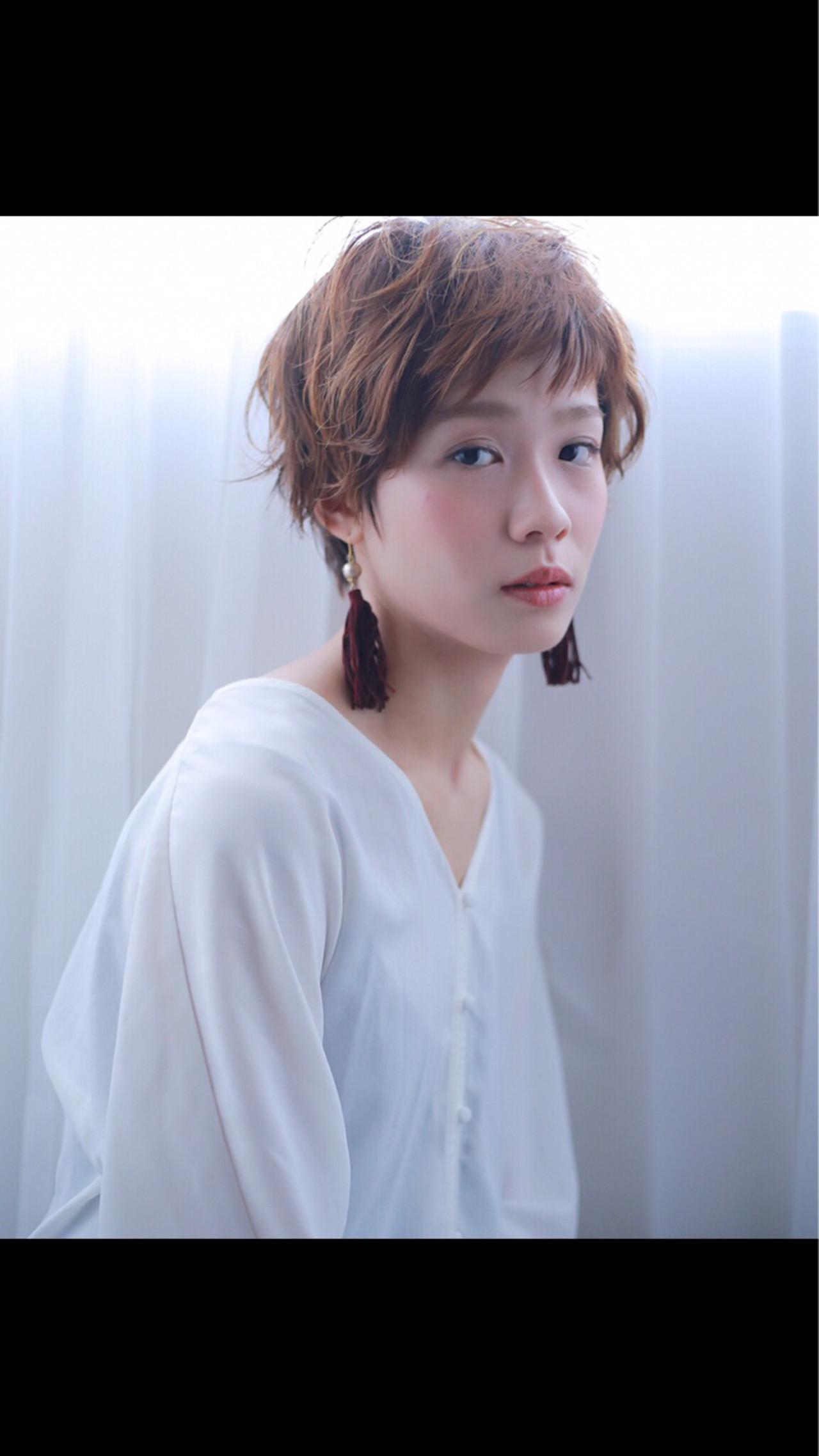 リラックス ショート アンニュイ デート ヘアスタイルや髪型の写真・画像 | 犬島 麻姫子 / artefice