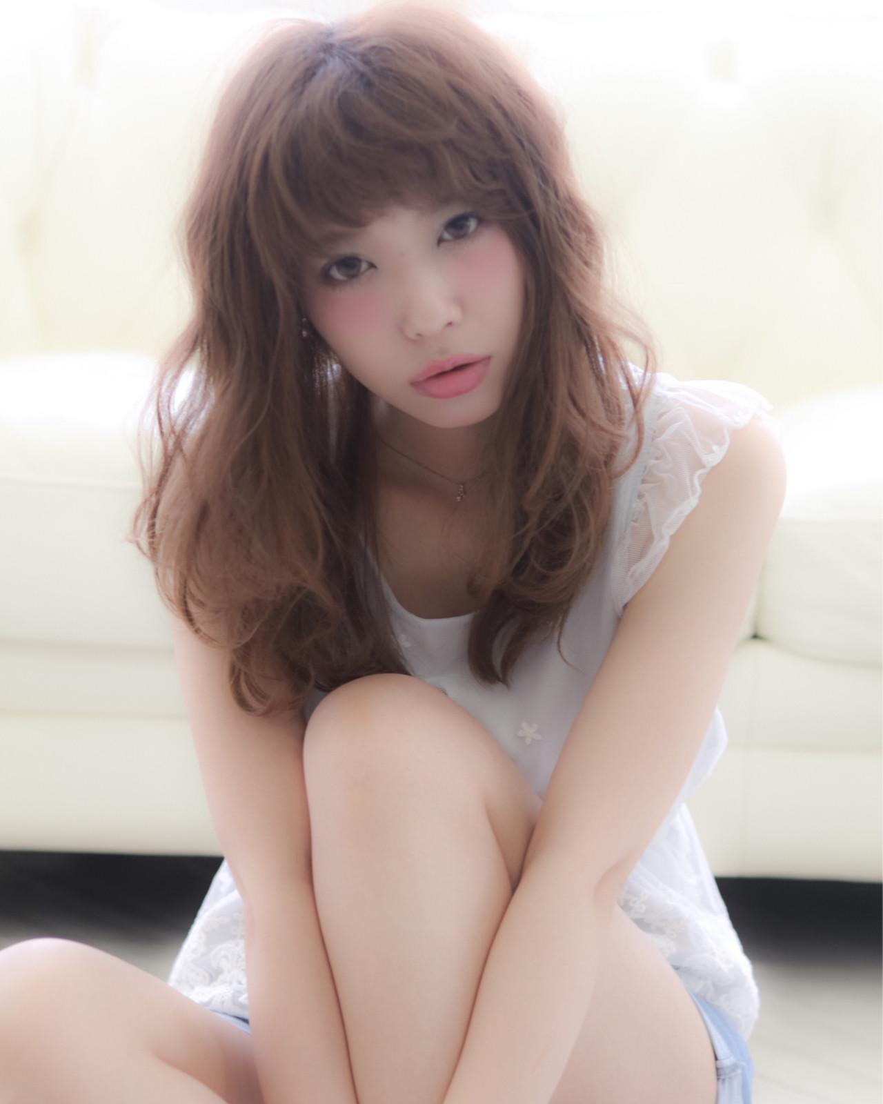 外国人風 ハーフアップ ハイライト 大人かわいい ヘアスタイルや髪型の写真・画像