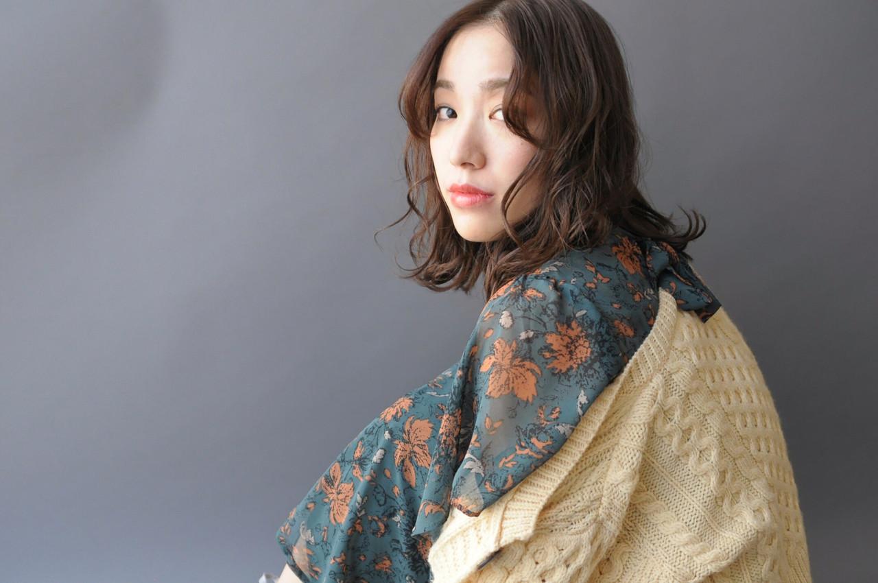 パーマ オシャレ ゆるふわ 大人かわいい ヘアスタイルや髪型の写真・画像 | 成田沙也加 / tricca Daikanyama