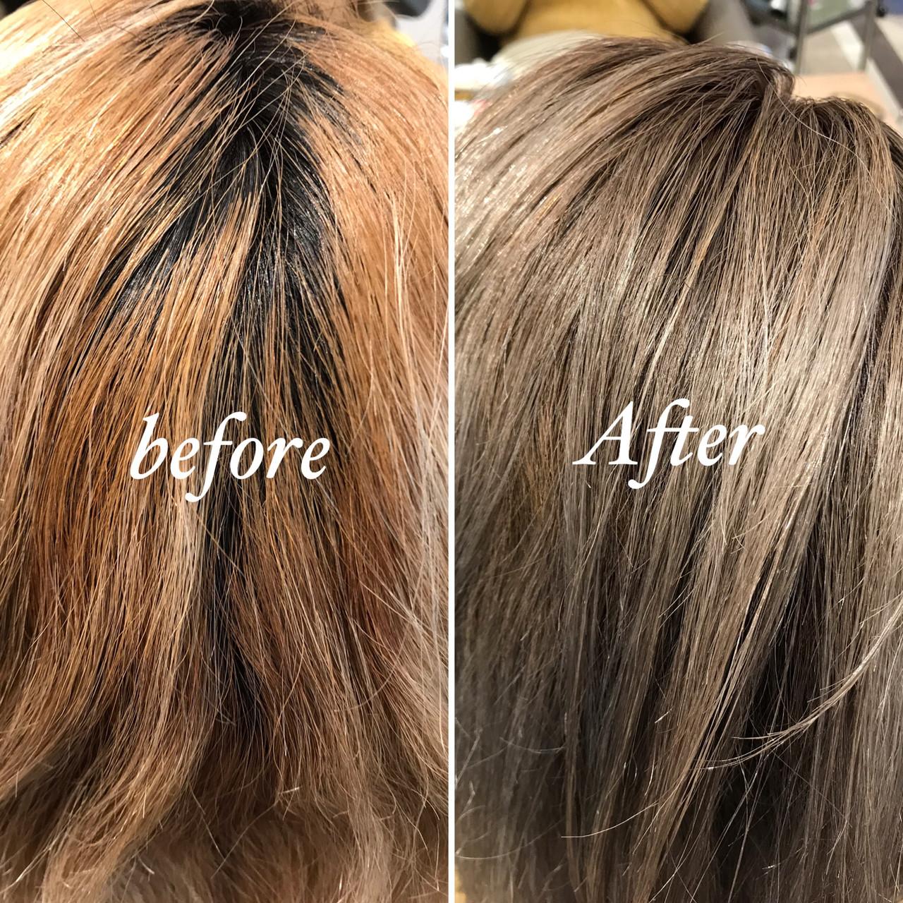 コントラストハイライト ストリート ミディアム ハイライト ヘアスタイルや髪型の写真・画像 | 長谷川 龍太 / hair design tea