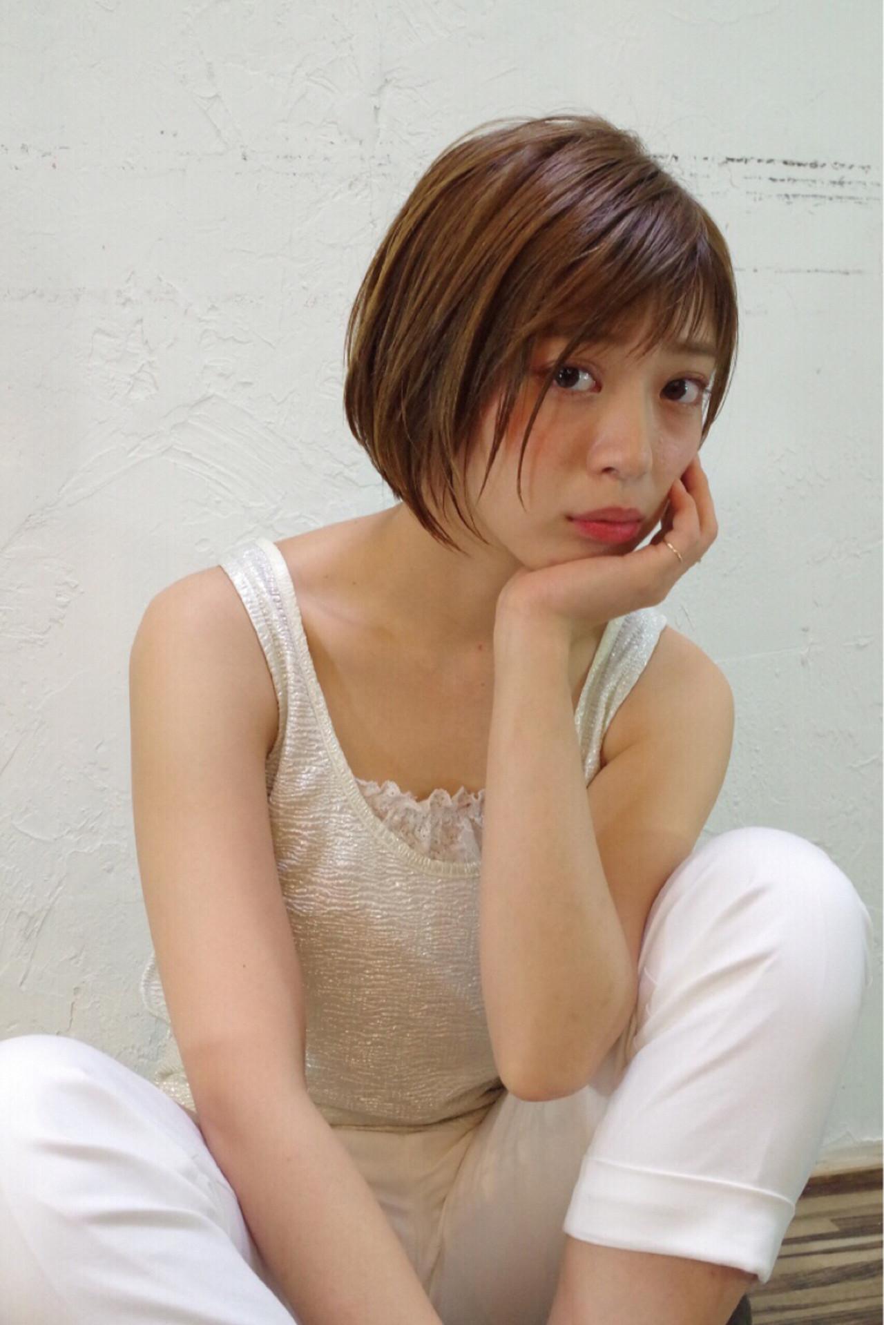 ワイドバング ピュア ハイライト アッシュ ヘアスタイルや髪型の写真・画像 | Nao Kokubun blast / blast