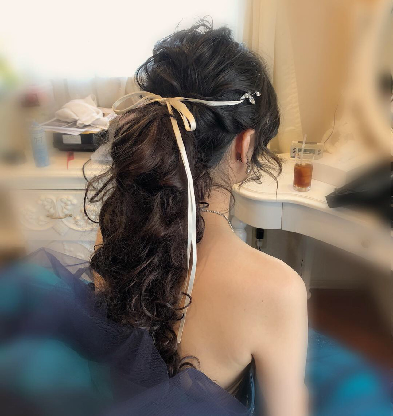 ヘアセット ポニーテールアレンジ ヘアアレンジ ポニーテール ヘアスタイルや髪型の写真・画像