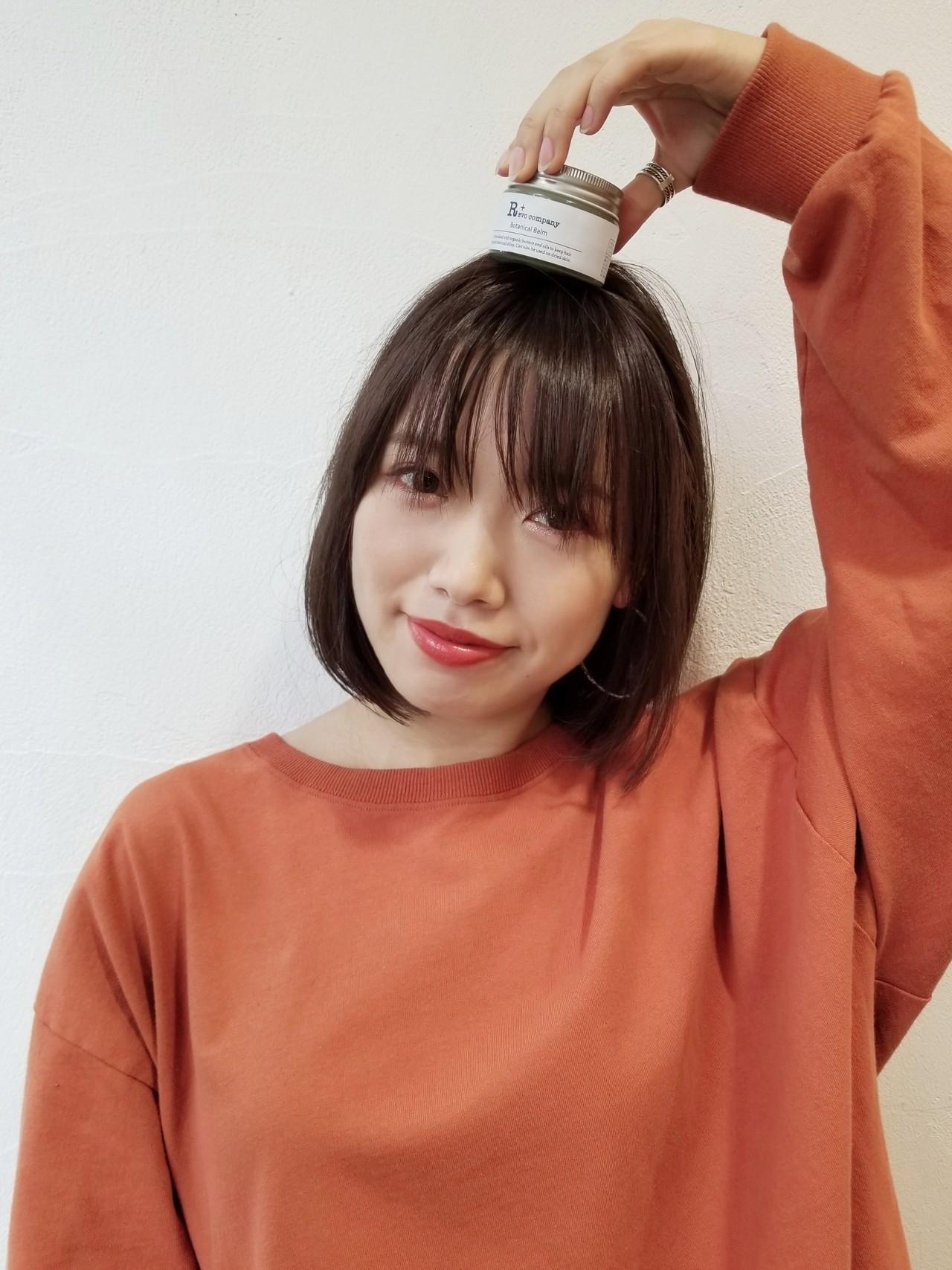 大人女子 ミニボブ ナチュラル 切りっぱなしボブ ヘアスタイルや髪型の写真・画像   川田 義人 GREEK hairdesign / GREEK  hairdesign【グリーク】