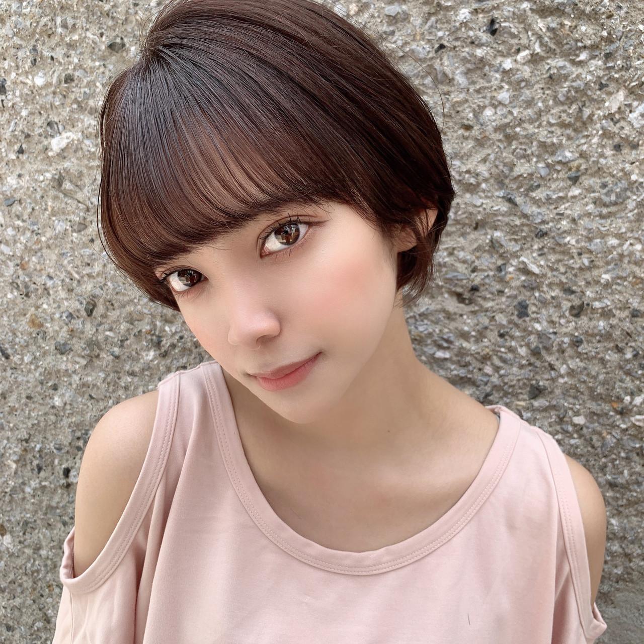 フェミニン 大人可愛い ショート ショートボブ ヘアスタイルや髪型の写真・画像