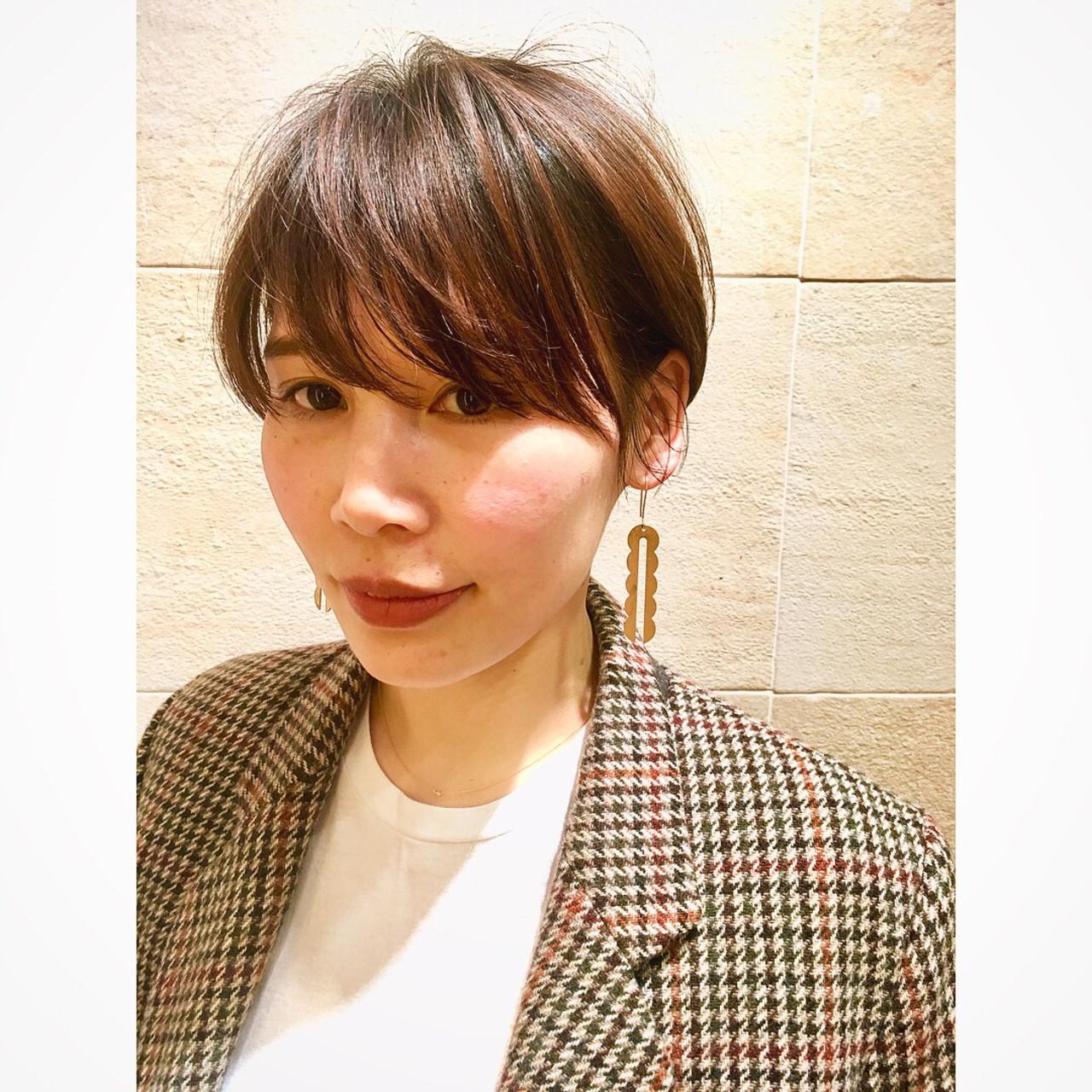 ショートボブ 前髪あり ショート ナチュラル ヘアスタイルや髪型の写真・画像 | 市田莉子 / BEAUTRIUM265