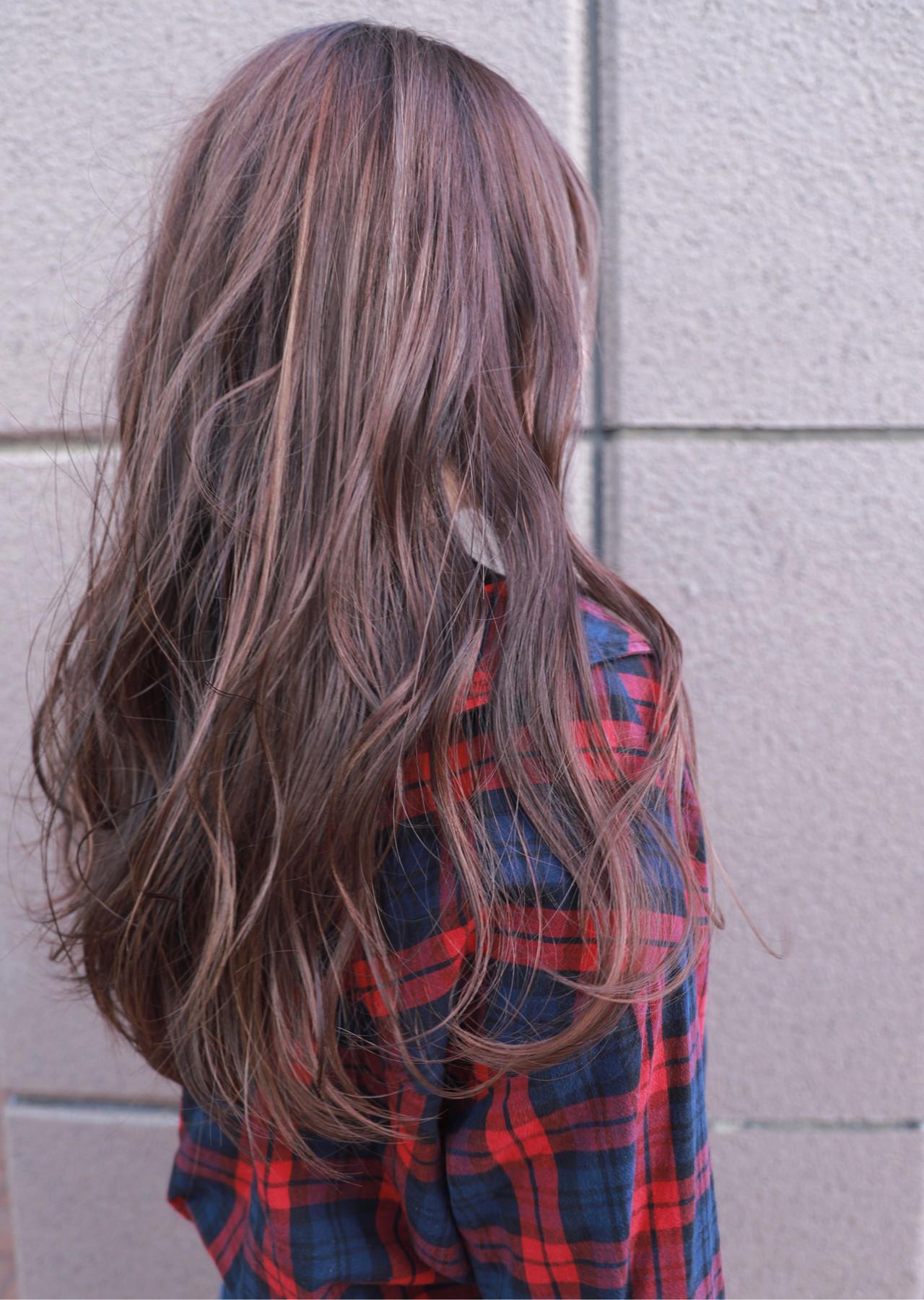 ヘアアレンジ グラデーションカラー ハイトーン ナチュラル ヘアスタイルや髪型の写真・画像