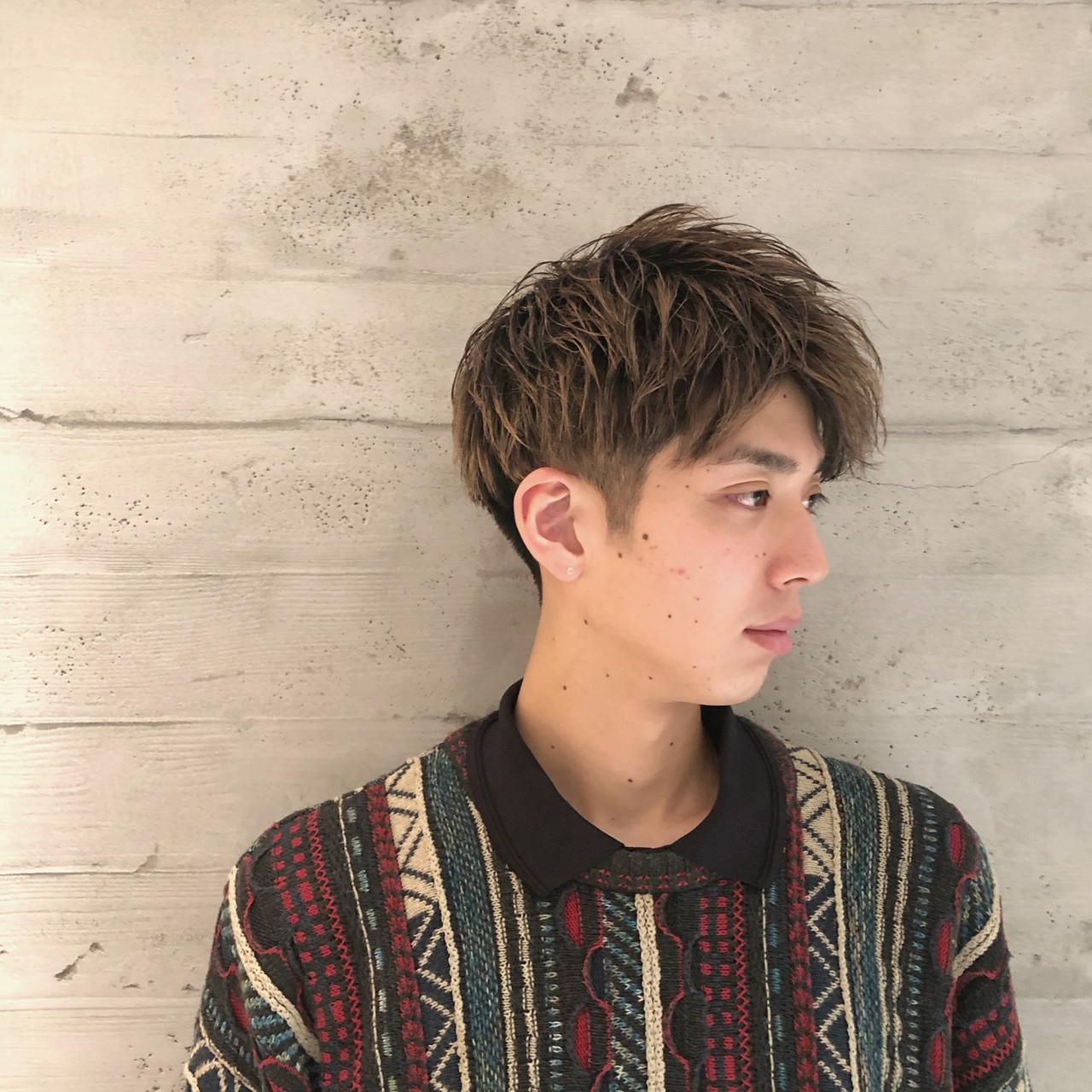 刈り上げ ショート メンズ ナチュラル ヘアスタイルや髪型の写真・画像 | メンズ専門美容師 菊地陸 / MEN'S GROOMING SALON SHINJUKU