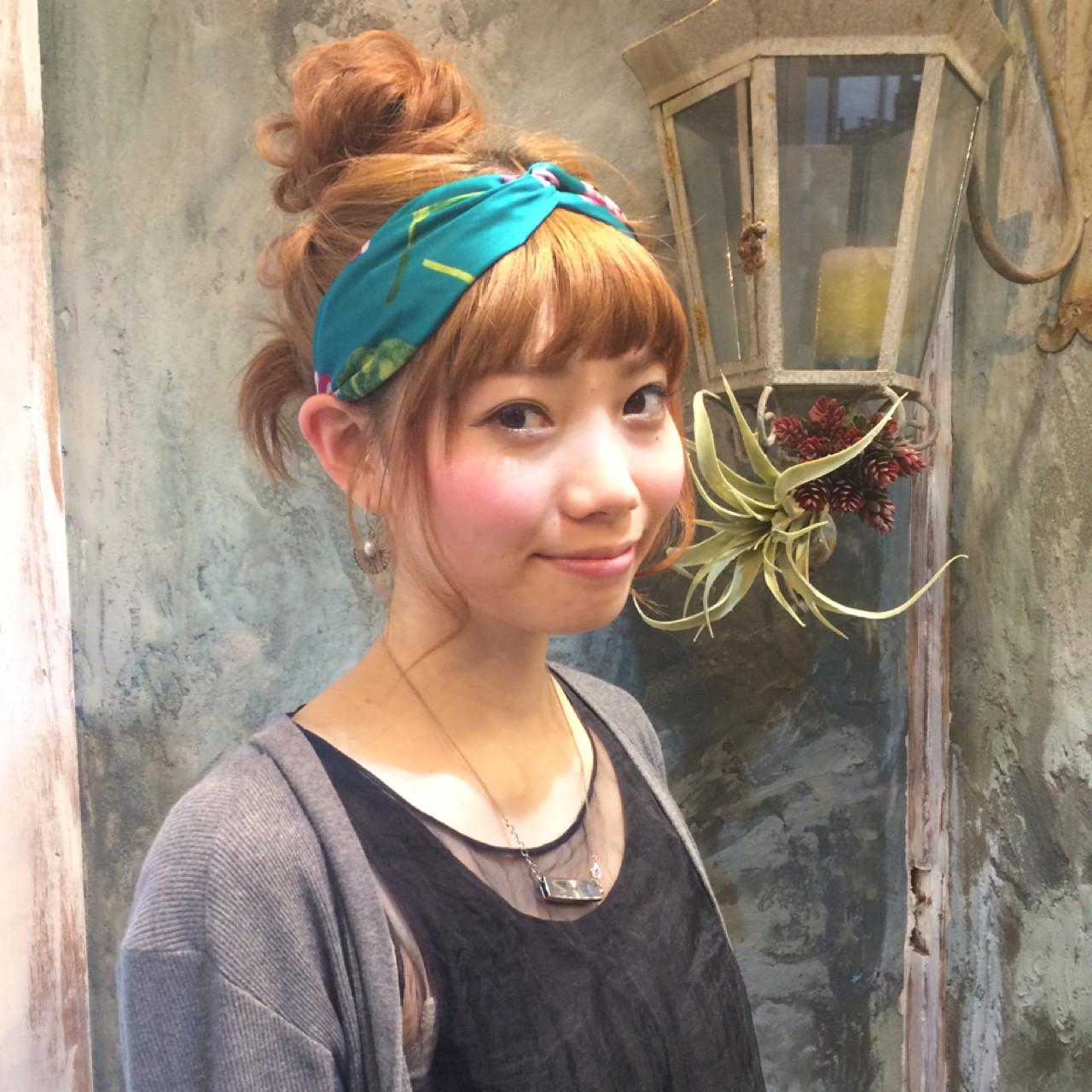 前髪あり ヘアアレンジ 夏 ショート ヘアスタイルや髪型の写真・画像