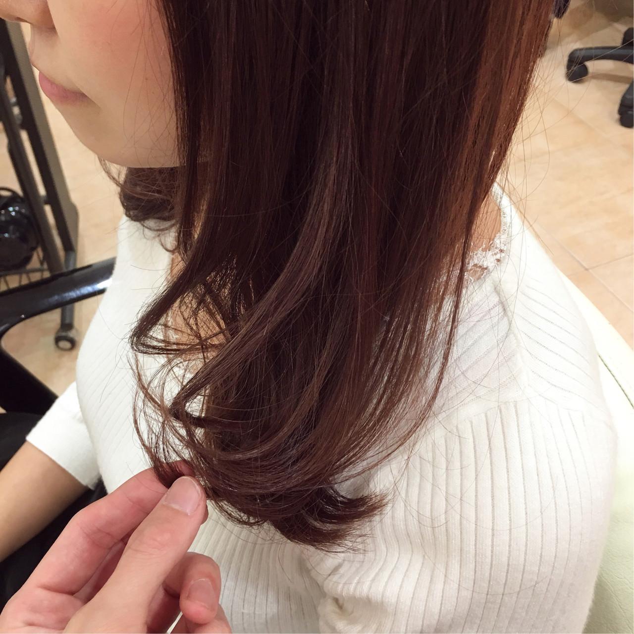イルミナカラー フェミニン ピンク ラベンダーピンク ヘアスタイルや髪型の写真・画像