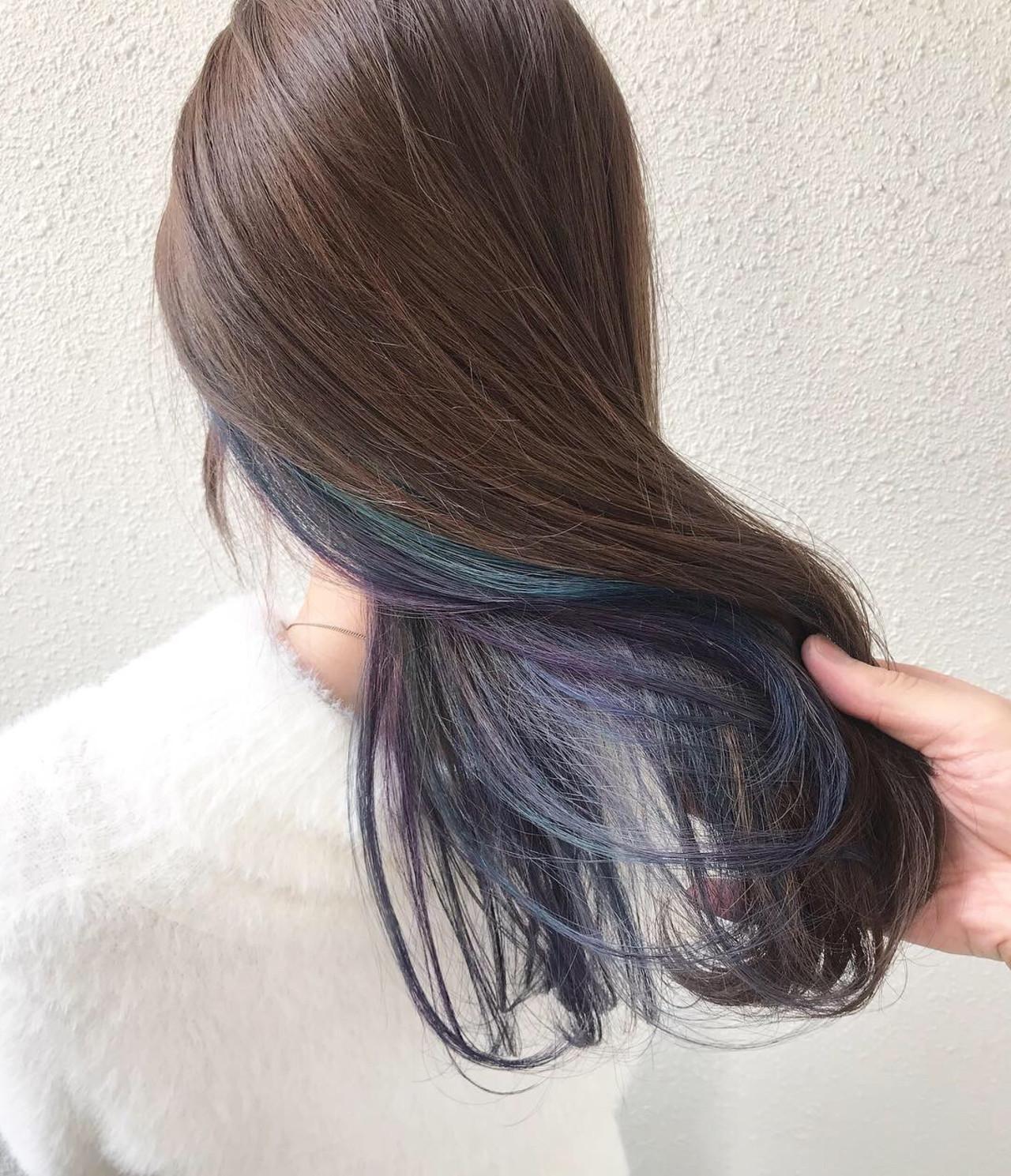 ユニコーンカラー 外国人風カラー インナーカラー オーロラカラー ヘアスタイルや髪型の写真・画像 | ヤマモト徹 / CHERIE hair design