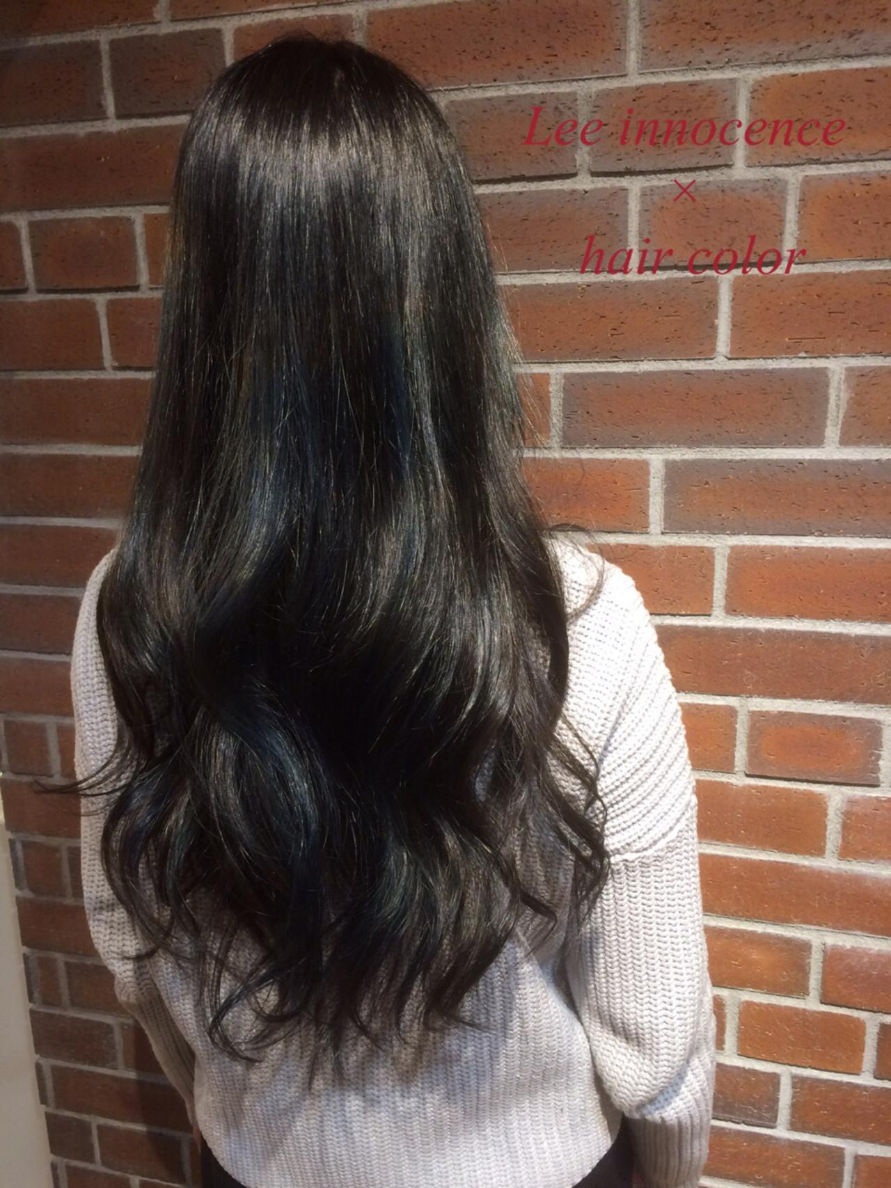 ハイライト 暗髪 ロング 外国人風 ヘアスタイルや髪型の写真・画像